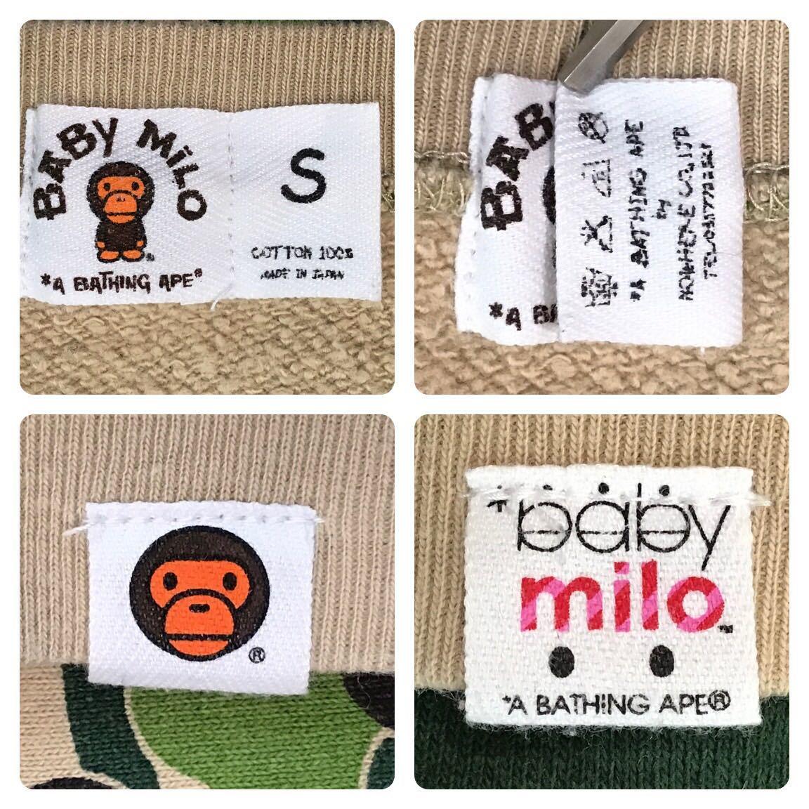 ABC milo camo green crazy 長袖スウェット Sサイズ a bathing ape bape sweat エイプ ベイプ アベイシングエイプ ABCカモ 迷彩 3532