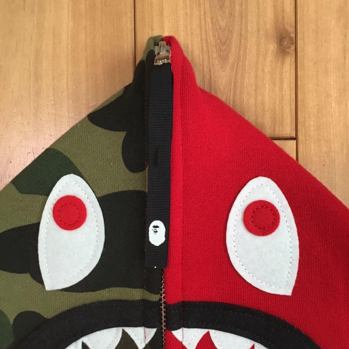 shark hoodie ネックウォーマー Red × 1st camo a bathing ape bape シャーク パーカー face mask フェイス マスク エイプ ベイプ 迷彩 c0
