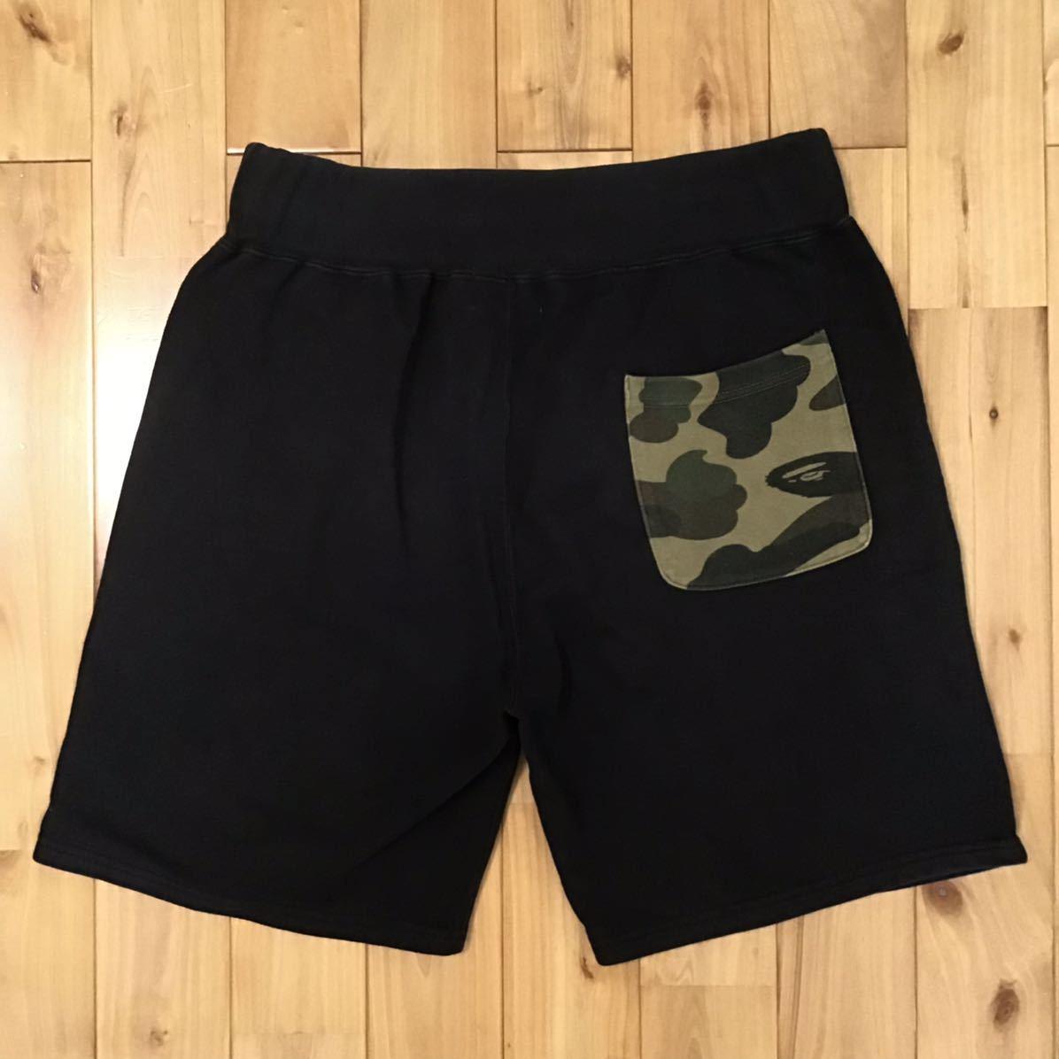 シャーク ハーフパンツ ブラック 1st camo green Mサイズ a bathing ape BAPE shark shorts ショーツ エイプ ベイプ アベイシングエイプ md