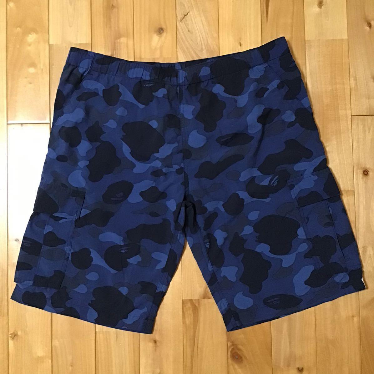 ★初期★ Blue camo swim shorts Mサイズ a bathing ape BAPE 水着 エイプ ベイプ アベイシングエイプ 迷彩 ハーフパンツ NIGO ブルーカモ