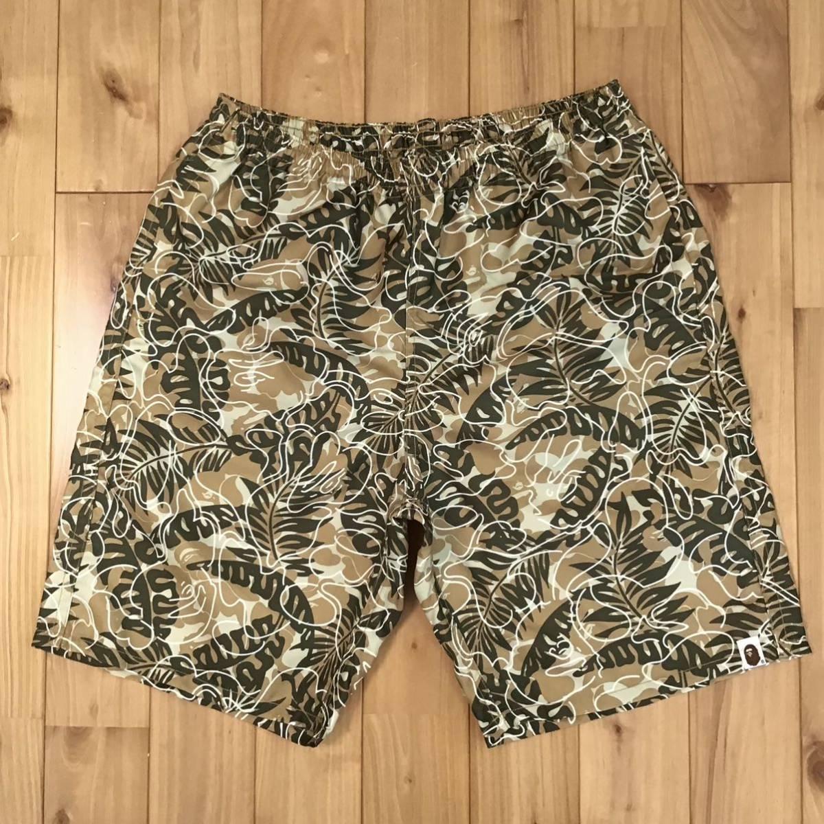 BAPE camo ナイロン ハーフパンツ Lサイズ a bathing ape shorts エイプ ベイプ アベイシングエイプ 迷彩 a805