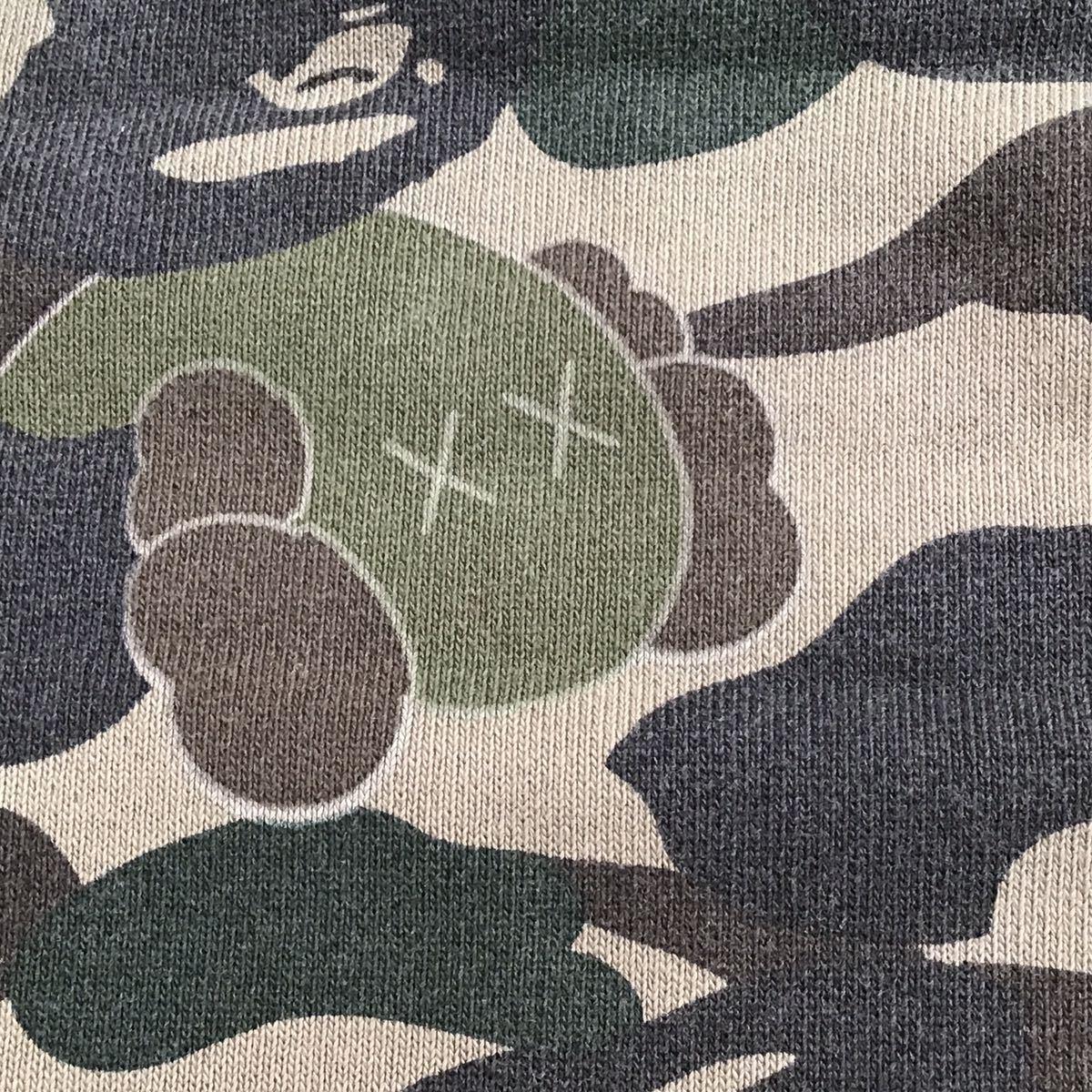kaws × bape 半袖 スウェット Sサイズ bendy 1st camo green a bathing ape sweat エイプ ベイプ アベイシングエイプ 迷彩 w5da