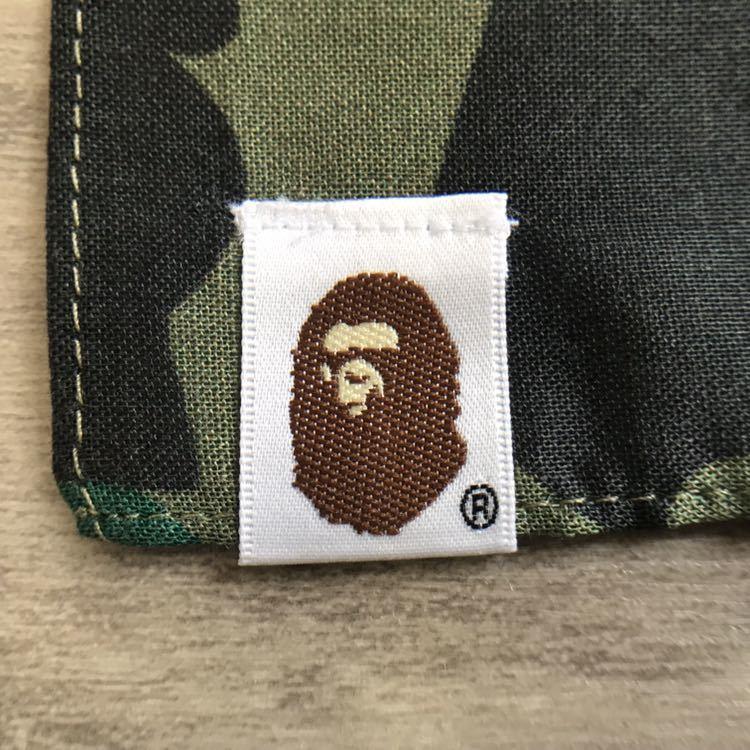 ★新品★ シャーク バンダナ 1st camo green スカーフ ハンカチ a bathing ape bape エイプ ベイプ shark bandana 迷彩 WGM
