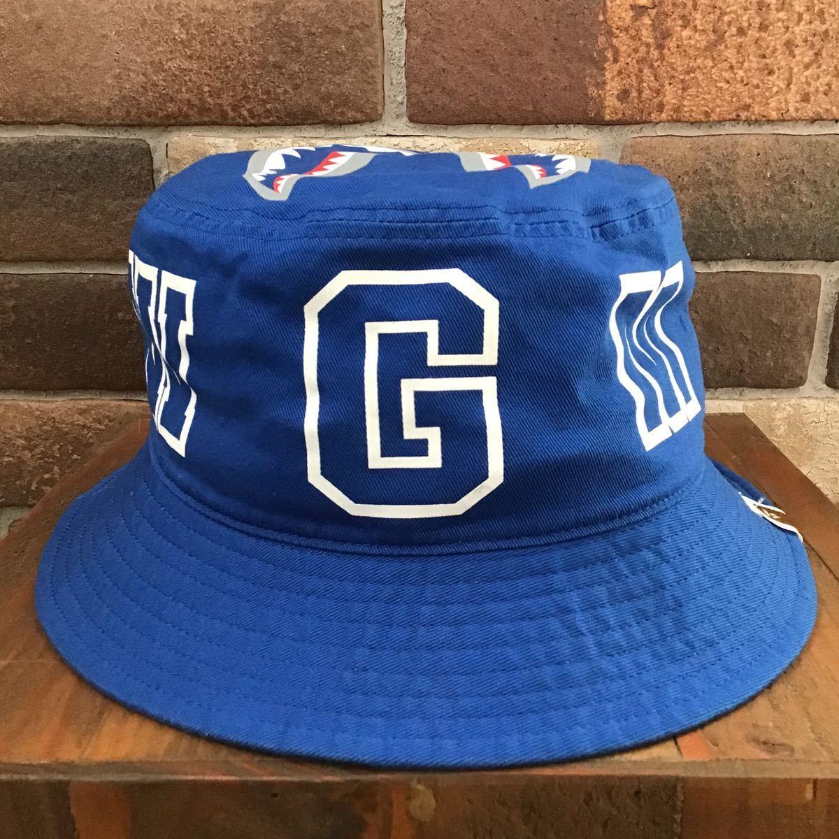 BAPE shark hat blue Lサイズ a bathing ape シャーク ハット WGM エイプ ベイプ アベイシングエイプ 帽子 8528