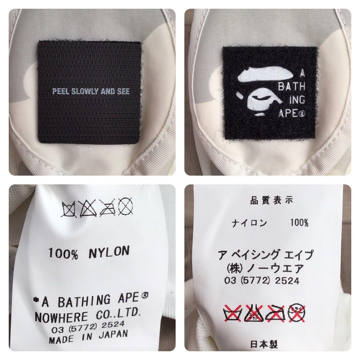 ★新品★ white camo ポーチ a bathing ape BAPE pouch エイプ ベイプ アベイシングエイプ ホワイト 迷彩