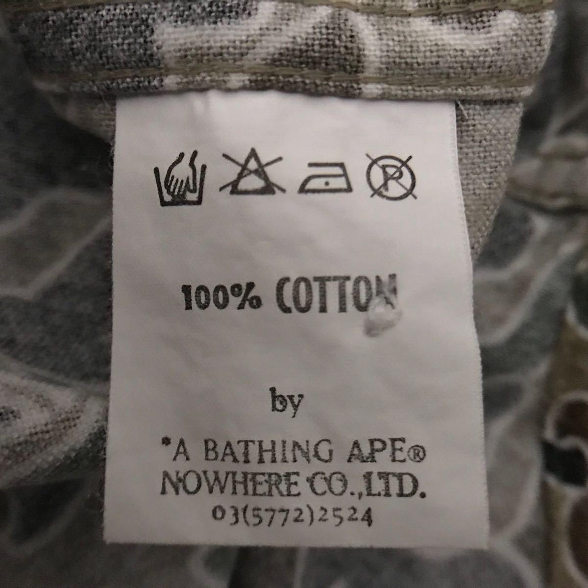 sta camo 長袖シャツ a bathing ape bape エイプ ベイプ アベイシングエイプ psyche サイケ カモフラ 迷彩 裏原宿 NOWHERE ビンテージ nigo