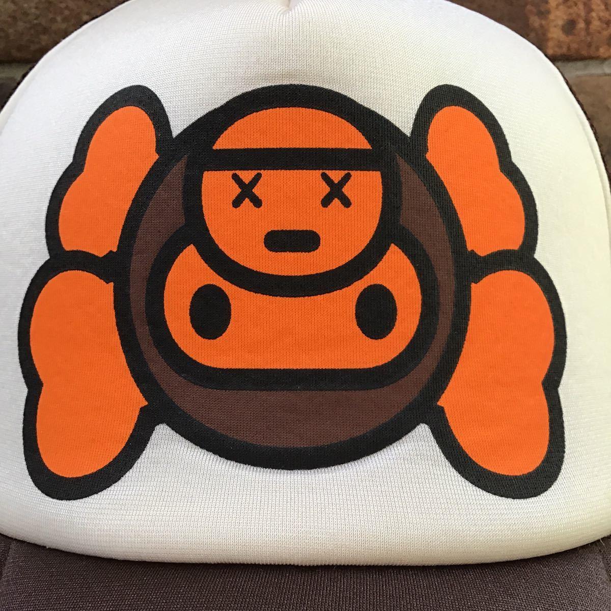 ★激レア★ kaws milo メッシュ キャップ a bathing ape BAPE マイロ エイプ ベイプ アベイシングエイプ カウズ 帽子 trucker hat cap 5231