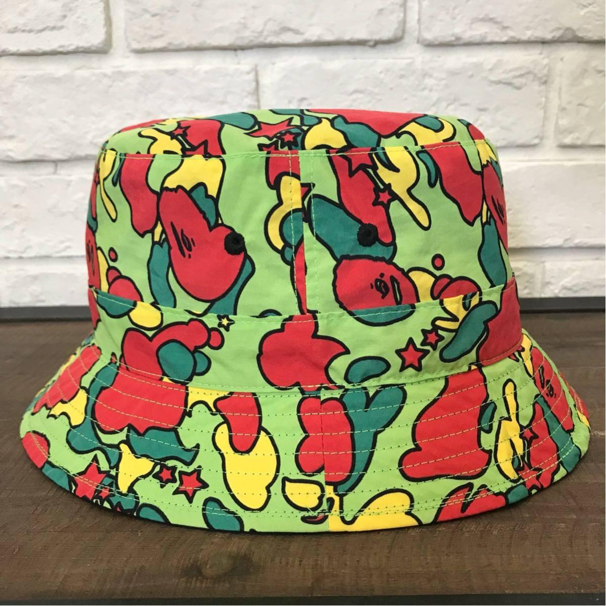 ★激レア★ psyche camo reversible hat a bathing ape BAPE エイプ ベイプ リバーシブル ハット サイケ 帽子 nigo pharrell vintage