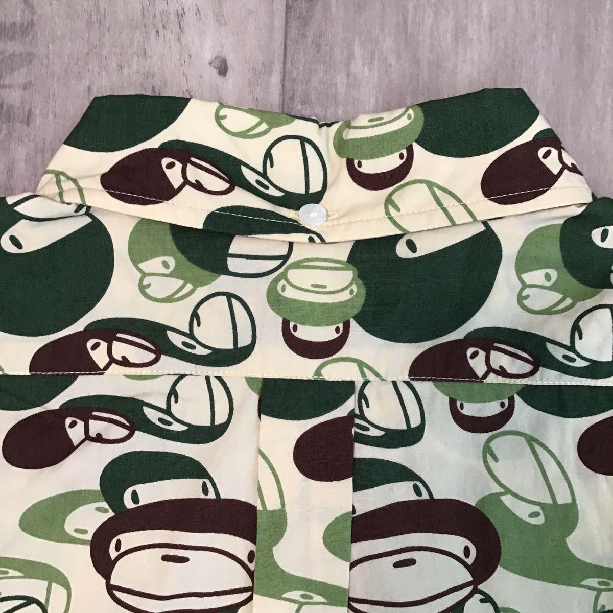 マイロ マルチカモ BD 半袖シャツ Mサイズ a bathing ape bape milo multi camo エイプ ベイプ アベイシングエイプ 迷彩 0732