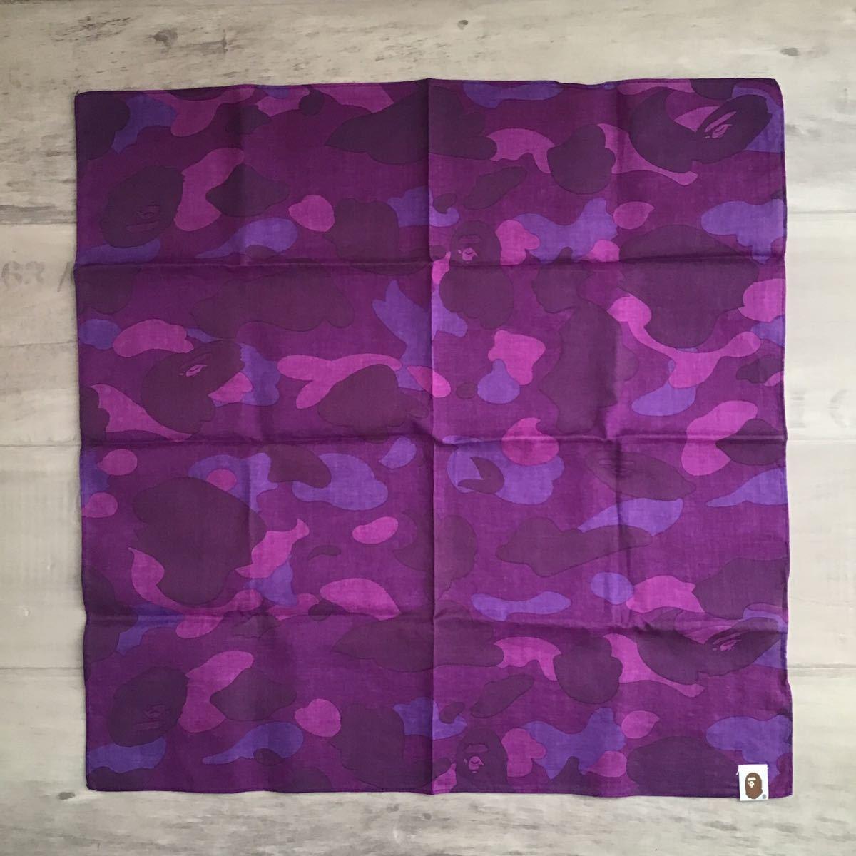 purple camo バンダナ a bathing ape BAPE エイプ ベイプ アベイシングエイプ bandana 紫 迷彩 パープルカモ 1313