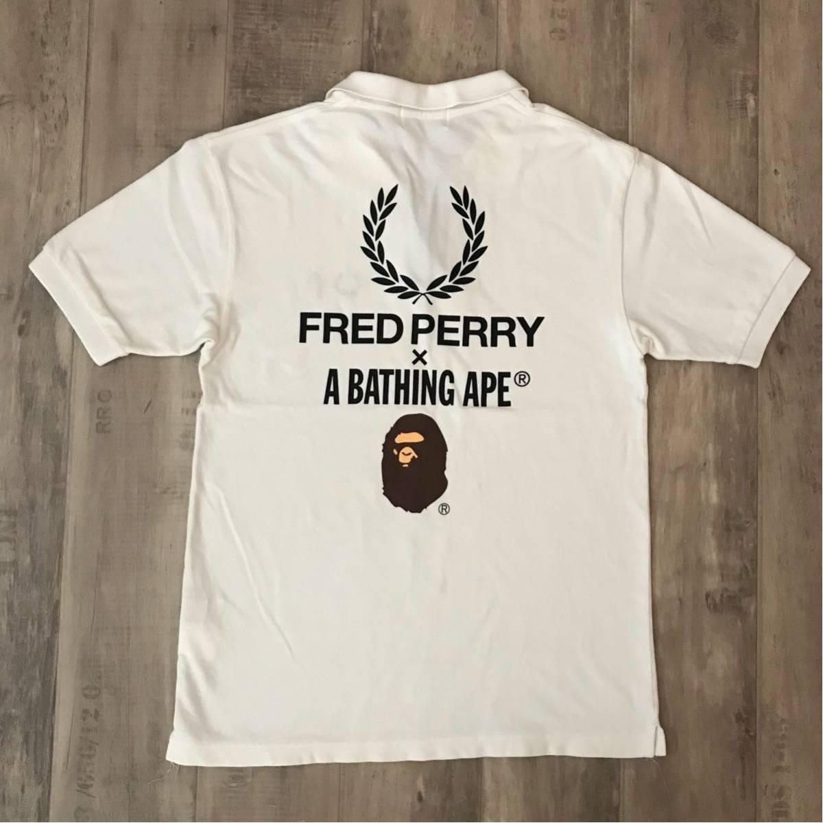 ★2店舗限定★ FRED PERRY × A BATHING APE ポロシャツ Lサイズ フレッドペリー bape エイプ ベイプ アベイシングエイプ 京都 青山 限定
