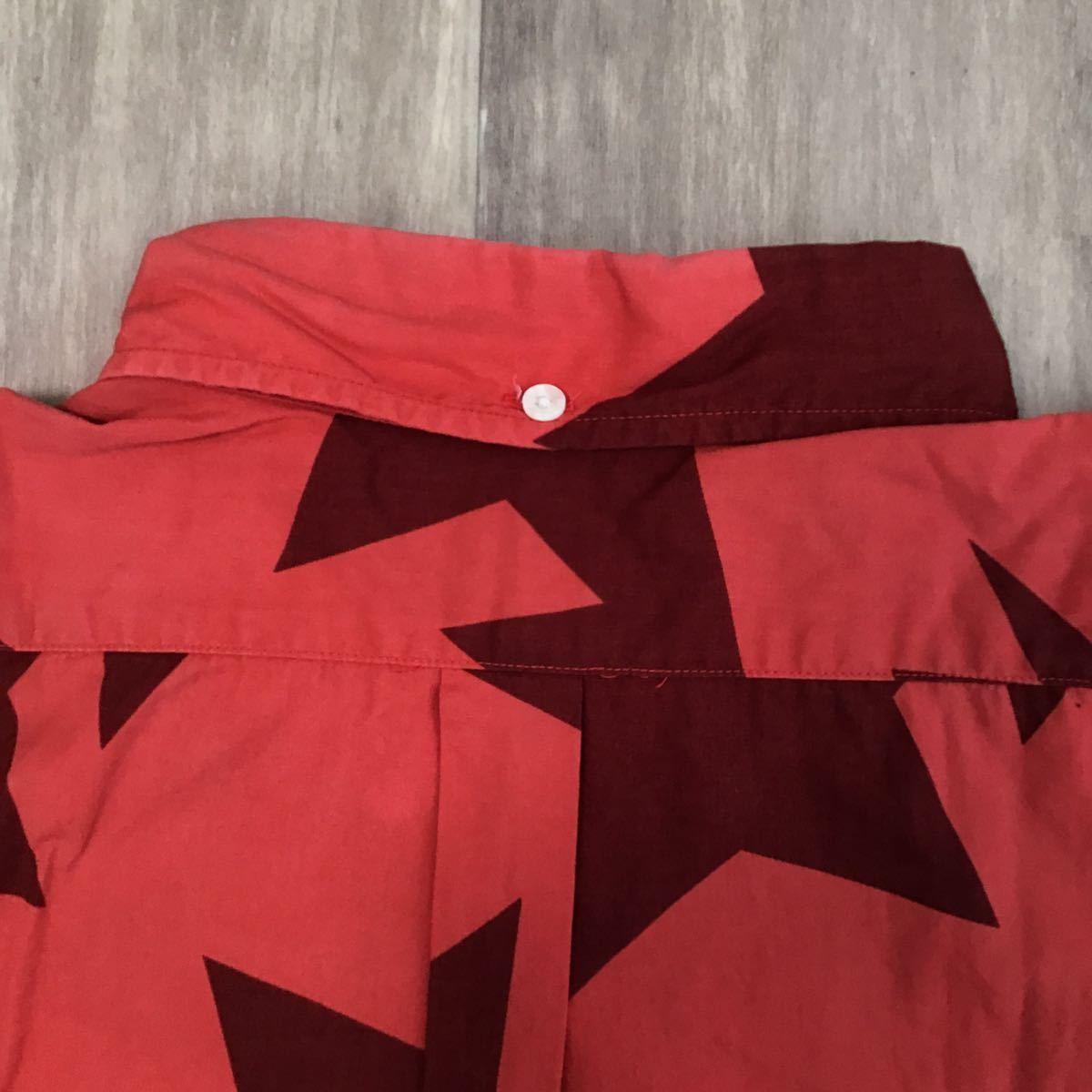 bapesta 半袖シャツ Mサイズ red a bathing ape bape sta エイプ ベイプ アベイシングエイプ スター star 7445