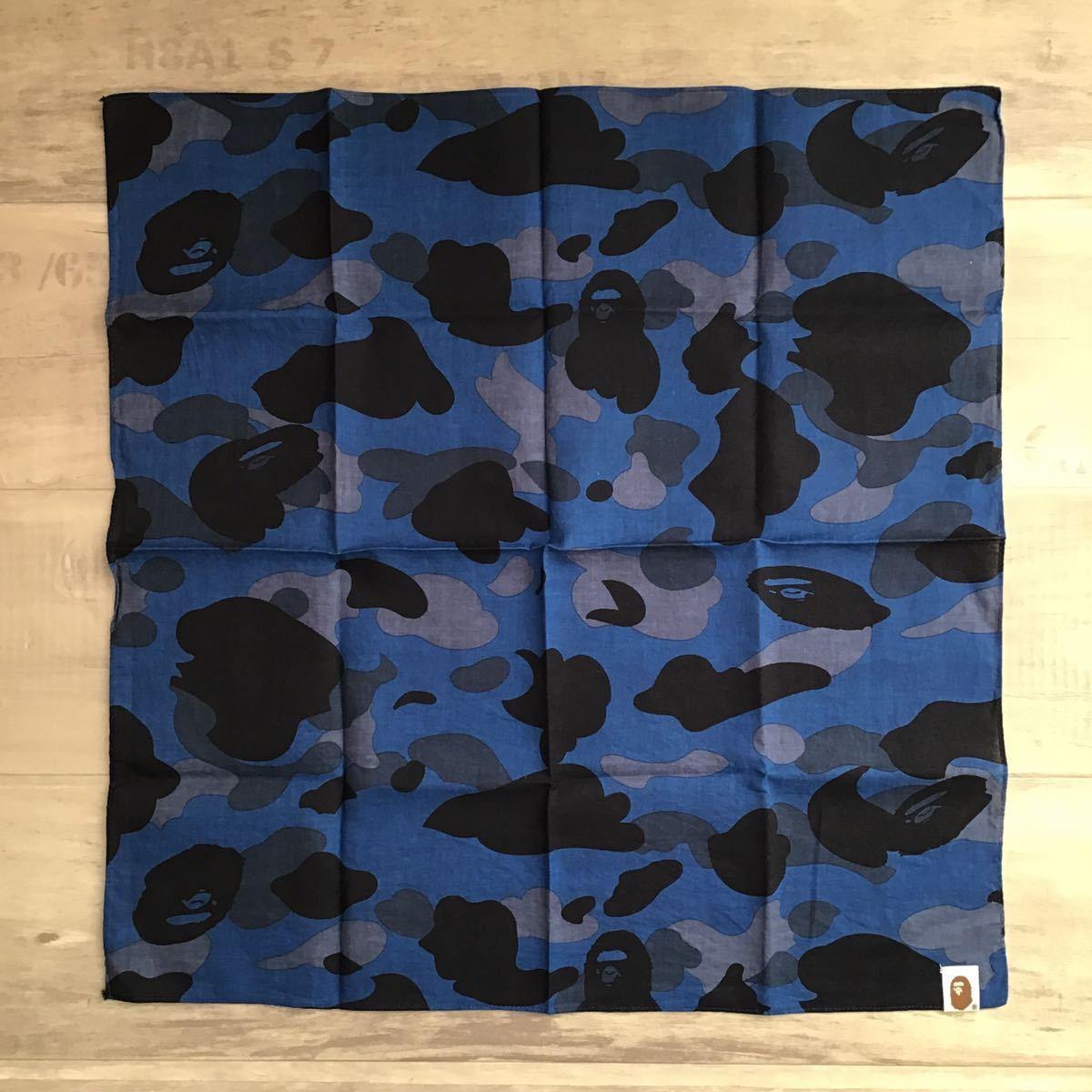 blue camo バンダナ a bathing ape BAPE エイプ ベイプ アベイシングエイプ bandana 迷彩 ブルーカモ 5215
