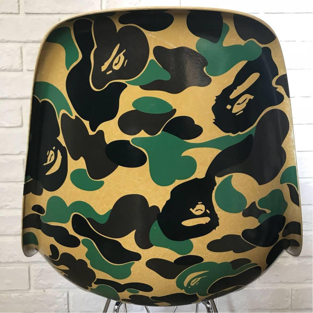 MODERNICA × BAPE CAMO SIDE CHAIR green a bathing ape EAMES モダニカ イームズ チェア ABC CAMO ABCカモ エイプ ベイプ 椅子 カリモク