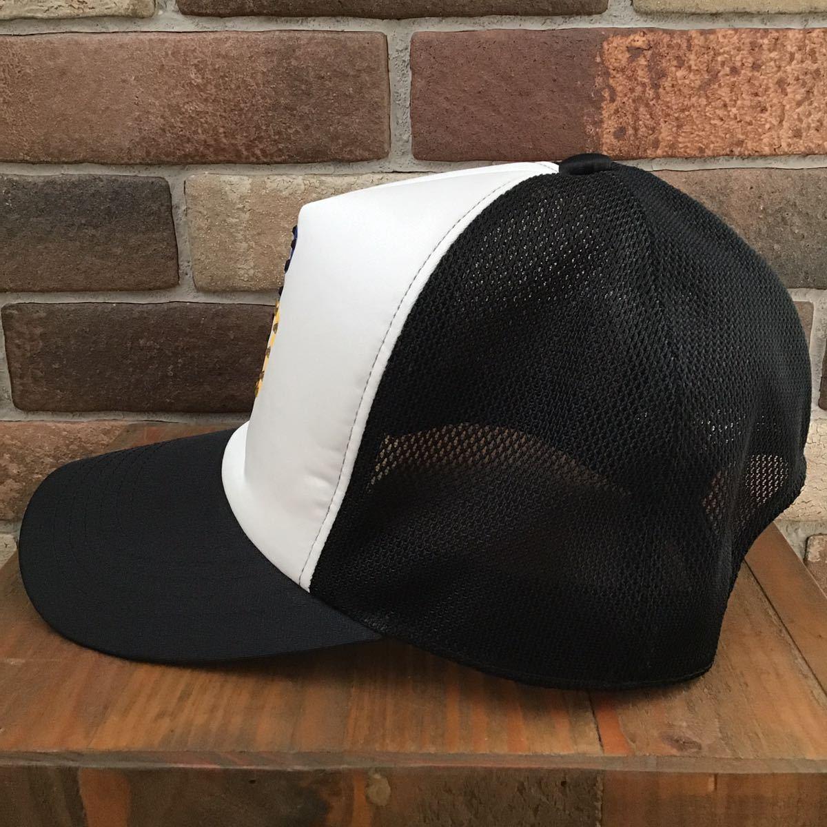 スワロフスキー BAPE logo キャップ a bathing ape swarovski cap trucker hat ラインストーン 帽子 エイプ ベイプ アベイシングエイプ 124