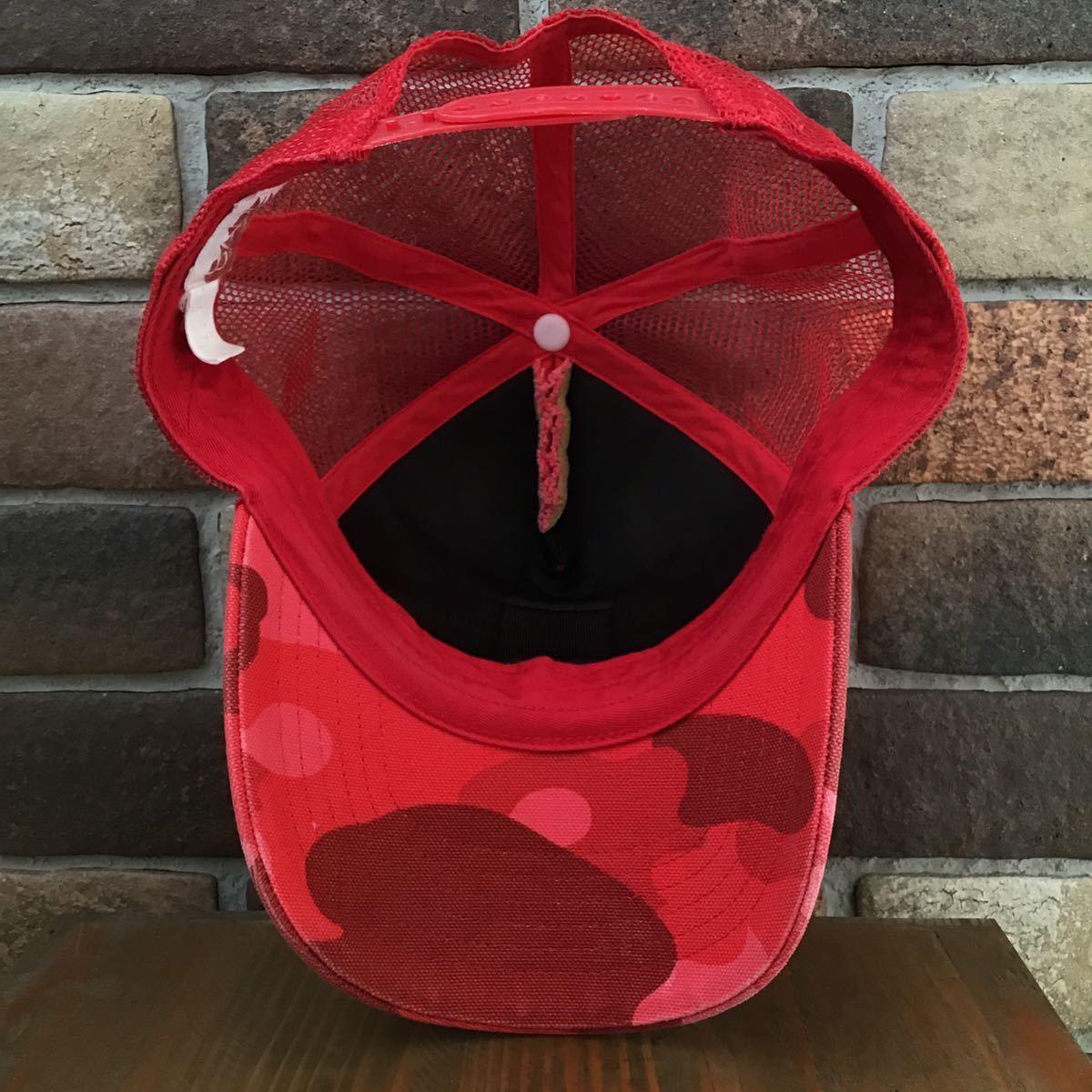 ★激レア★ carhartt × bape メッシュ キャップ カーハート a bathing ape エイプ ベイプ cap 帽子 trucker hat red camo レッドカモ 0095