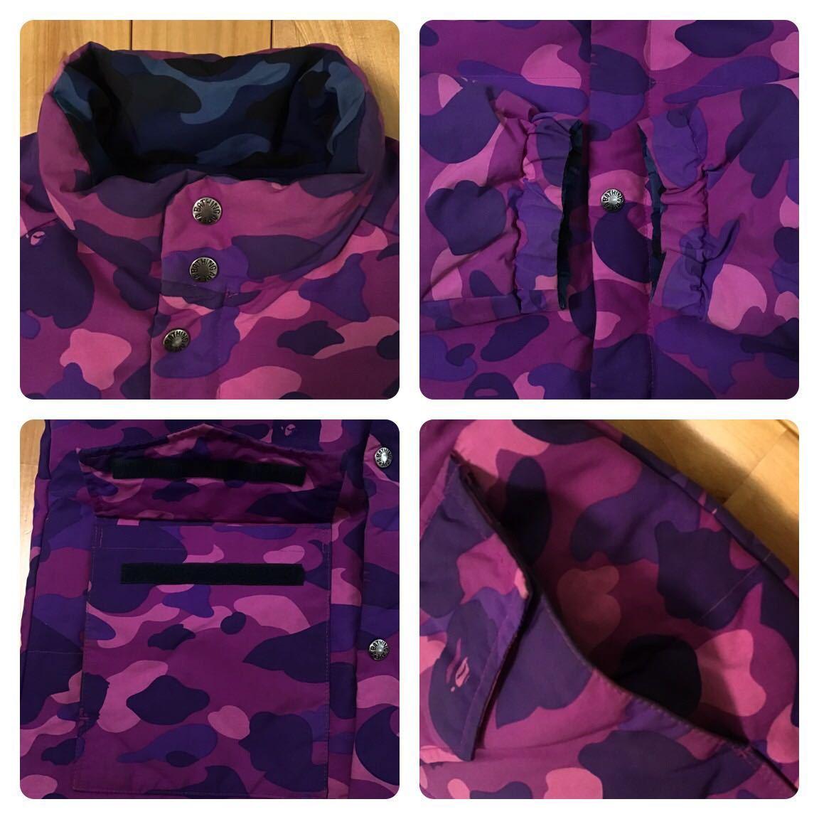 ★リバーシブル★ ダウンジャケット Mサイズ purple camo × blue camo a bathing ape bape エイプ ベイプ reversible down jacket 迷彩