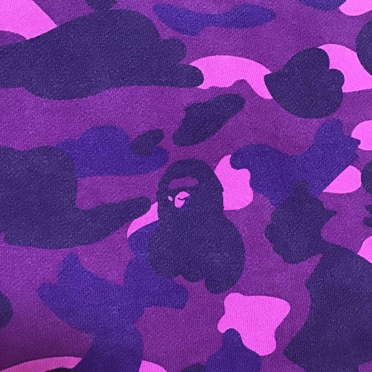 スワロフスキー BAPE logo 長袖 スウェット Sサイズ a bathing ape swarovski sweat ラインストーン エイプ ベイプ purple camo 迷彩 h523