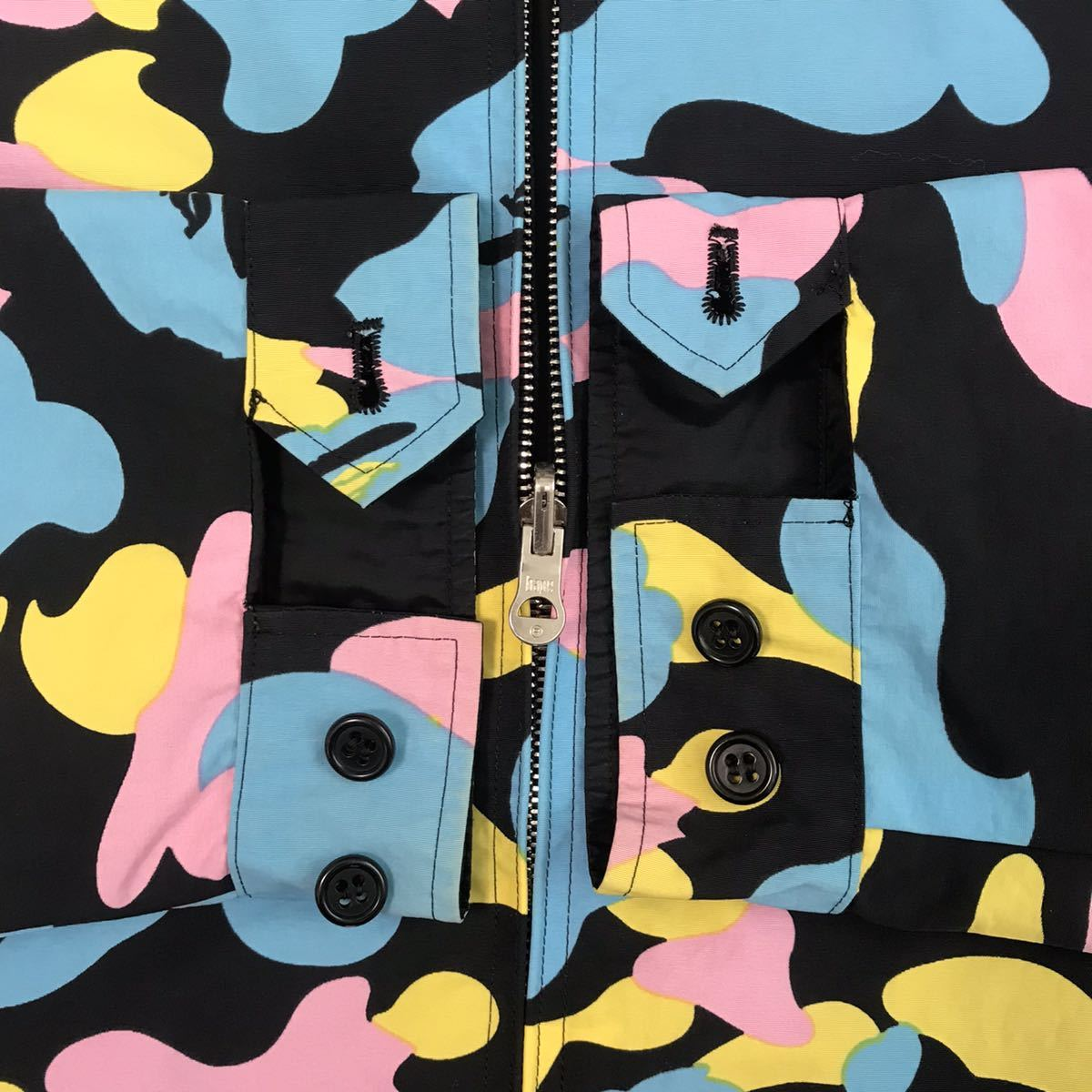 ★リバーシブル★ マルチカモ ジャケット Mサイズ a bathing ape bape cotton candy camo jacket エイプ ベイプ アベイシングエイプ 3532