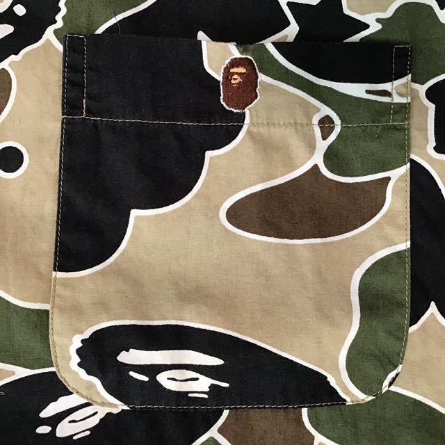 sta camo 半袖シャツ Sサイズ a bathing ape bape エイプ ベイプ アベイシングエイプ psyche サイケ カモフラ 迷彩 裏原宿 NOWHERE 095