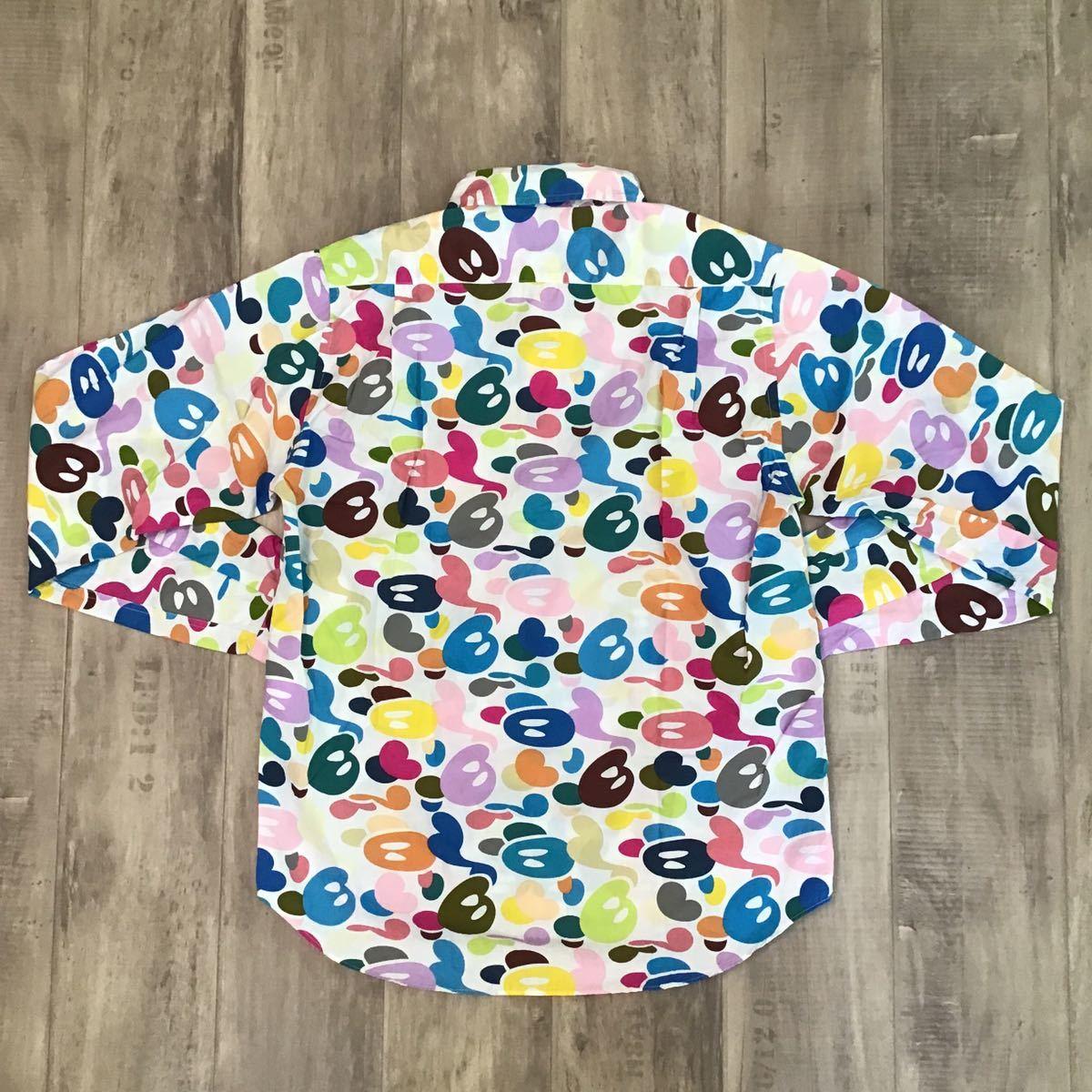 milo multi camo 長袖シャツ Mサイズ a bathing ape bape エイプ ベイプ アベイシングエイプ マルチカモ マイロ 迷彩 nigo tp31