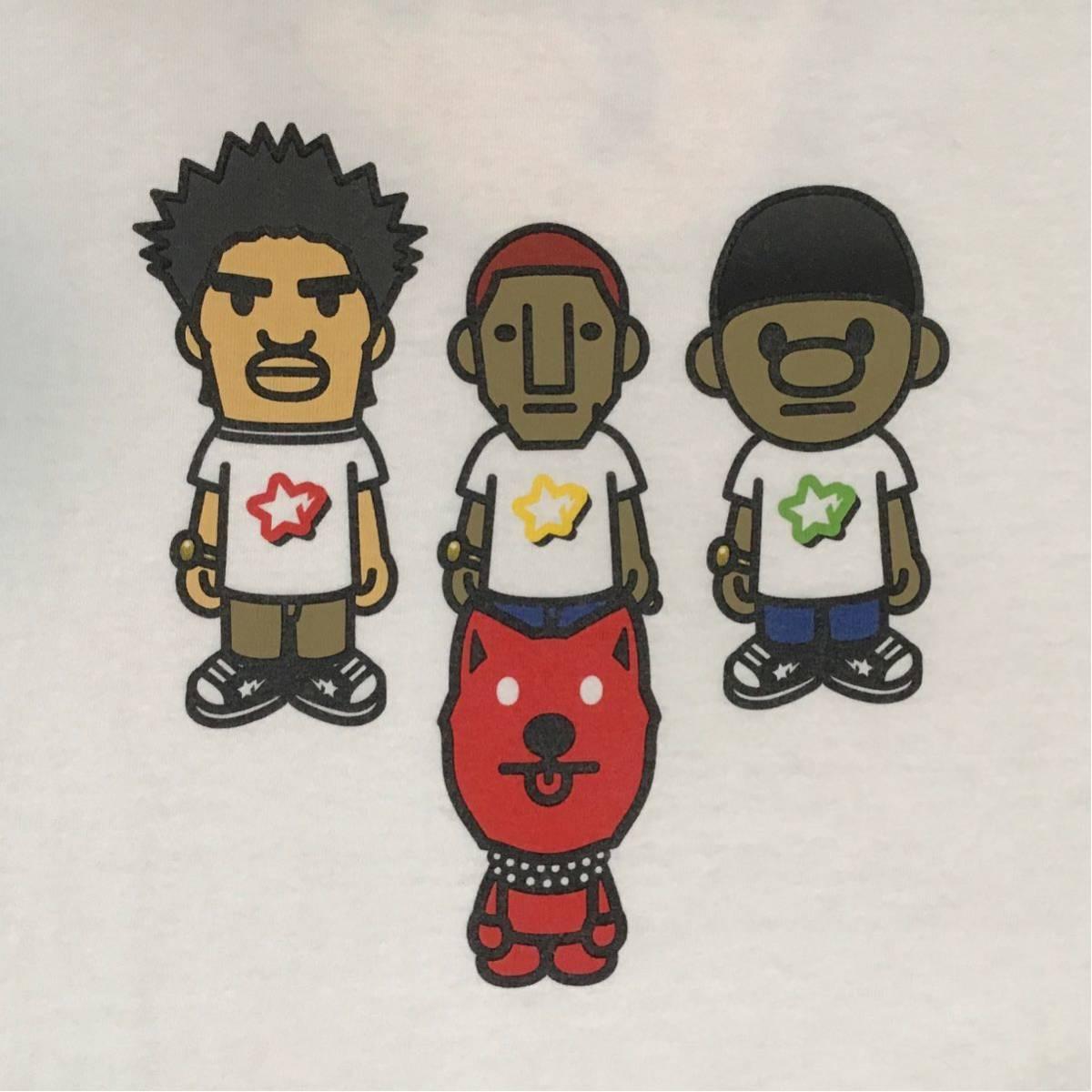 ★XL★ N.E.R.D × BAPE Tシャツ a bathing ape NERD pharrell THE NEPTUNES star trak エイプ ベイプ アベイシングエイプ NIGO 85m