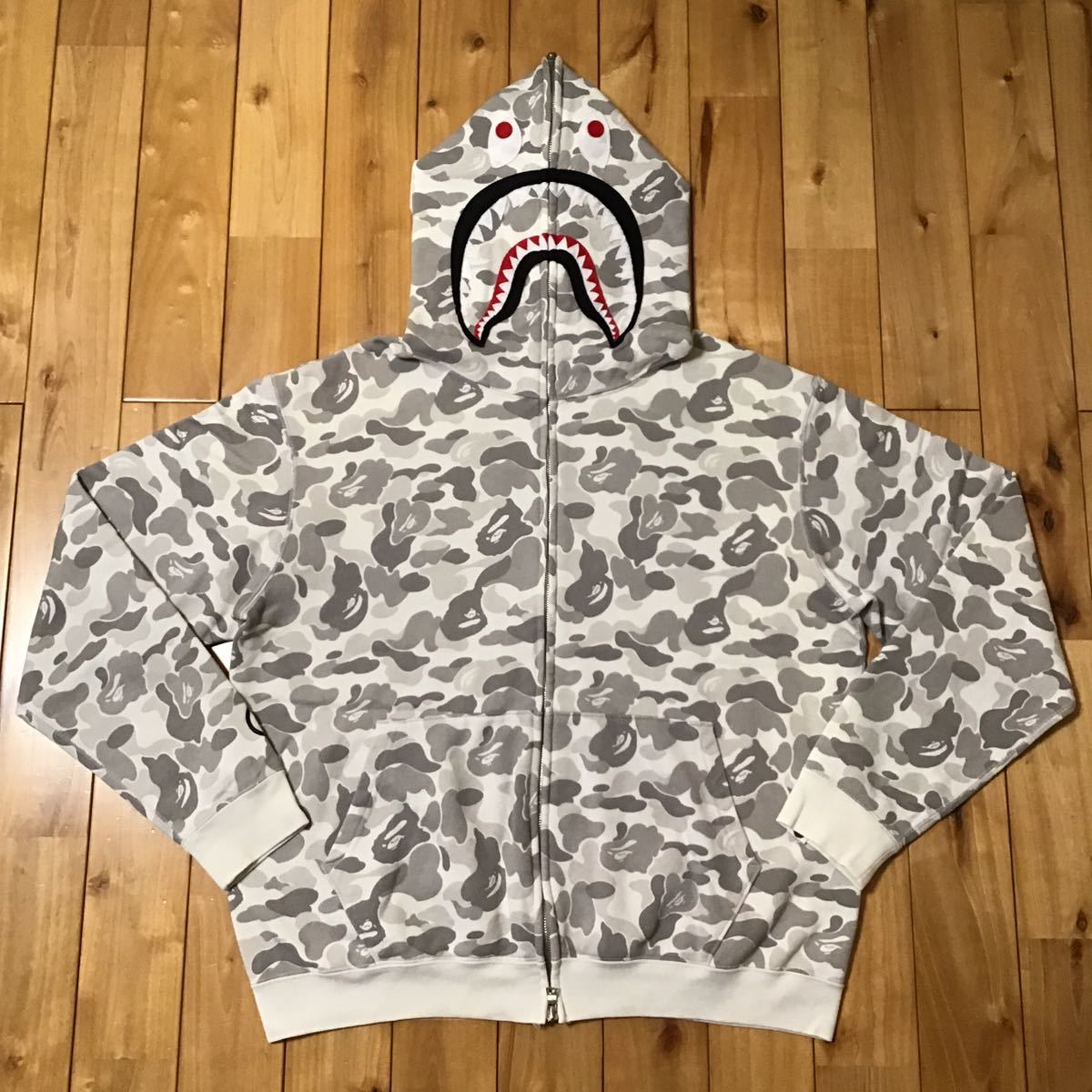 ★原宿限定★ harajuku city color camo シャーク パーカー Mサイズ shark full zip hoodie a bathing ape BAPE エイプ ベイプ 都市限定