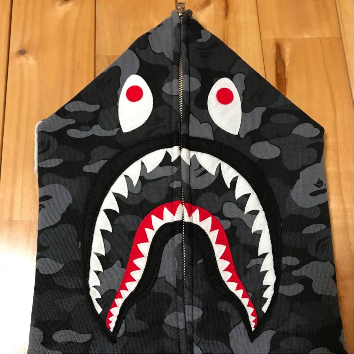 ★青山限定★ aoyama limited color camo シャーク パーカー L shark full zip hoodie a bathing ape BAPE エイプ ベイプ 都市限定 city