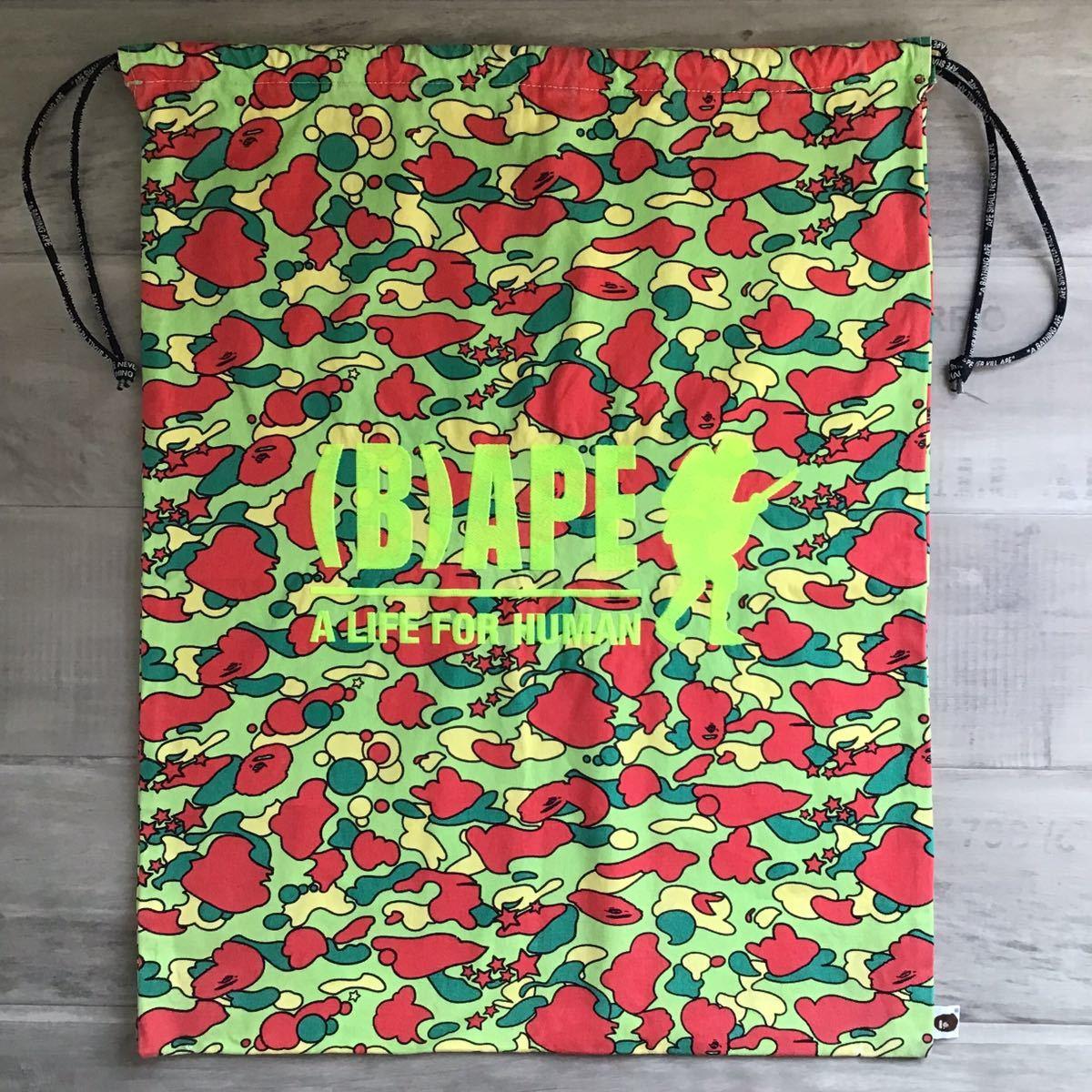 ★激レア★ 大型 巾着袋 psyche camo a bathing ape bape foot soldier シューズ バッグ スニーカー bag エイプ ベイプ フットソルジャー