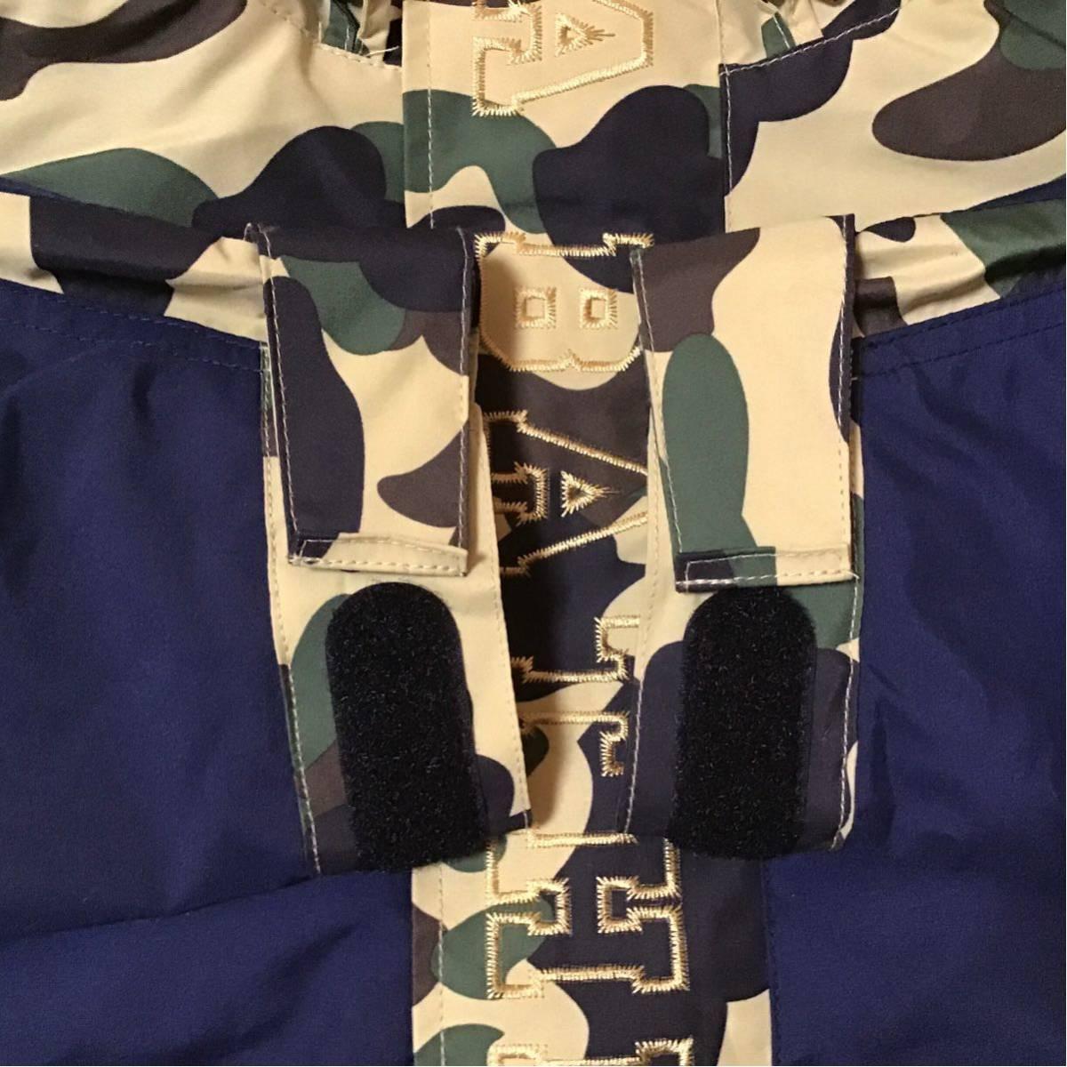 ★美品★ タイガー スノボ ジャケット Sサイズ a bathing ape tiger snow board jacket BAPE hoodie パーカー エイプ ベイプ 1st camo navy