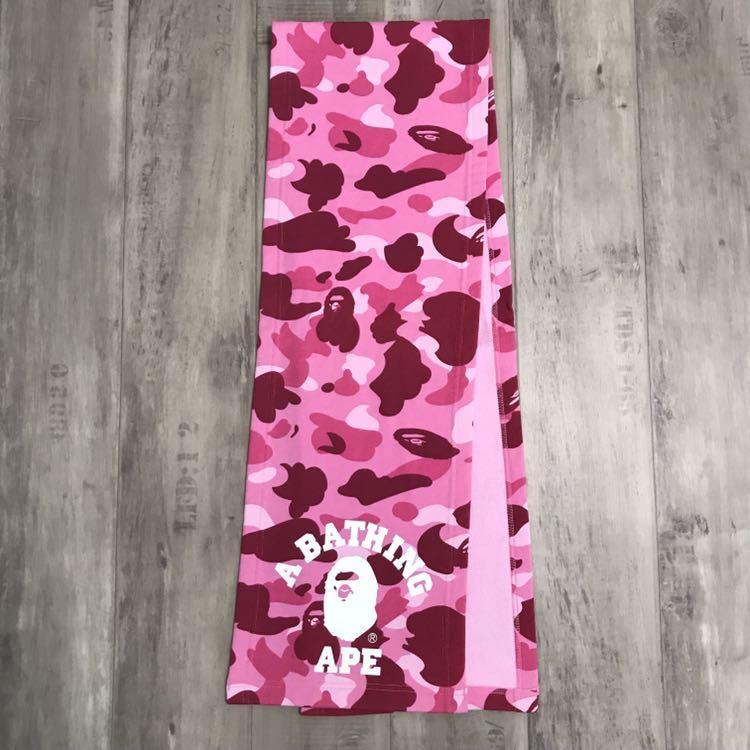 カレッジロゴ スウェット マフラー pink camo a bathing ape bape エイプ ベイプ アベイシングエイプ ストール 迷彩 pink camo ピンク