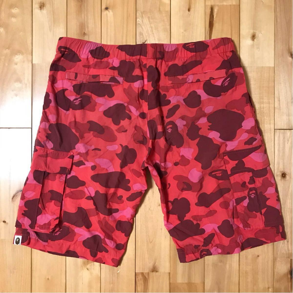 ★激レア★ 初期 pharrell camo swim shorts Mサイズ a bathing ape BAPE 水着 エイプ ベイプ アベイシングエイプ red camo ハーフパンツ