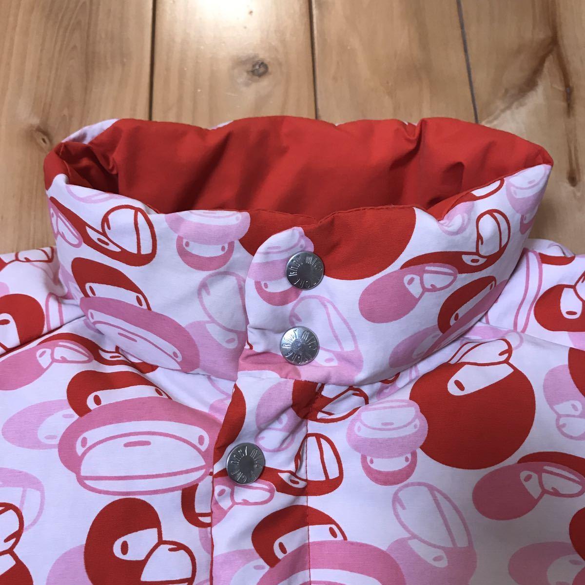 ★リバーシブル★ milo camo pink ダウンジャケット Lサイズ a bathing ape BAPE reversible down jacket エイプ ベイプ ピンク 迷彩 808