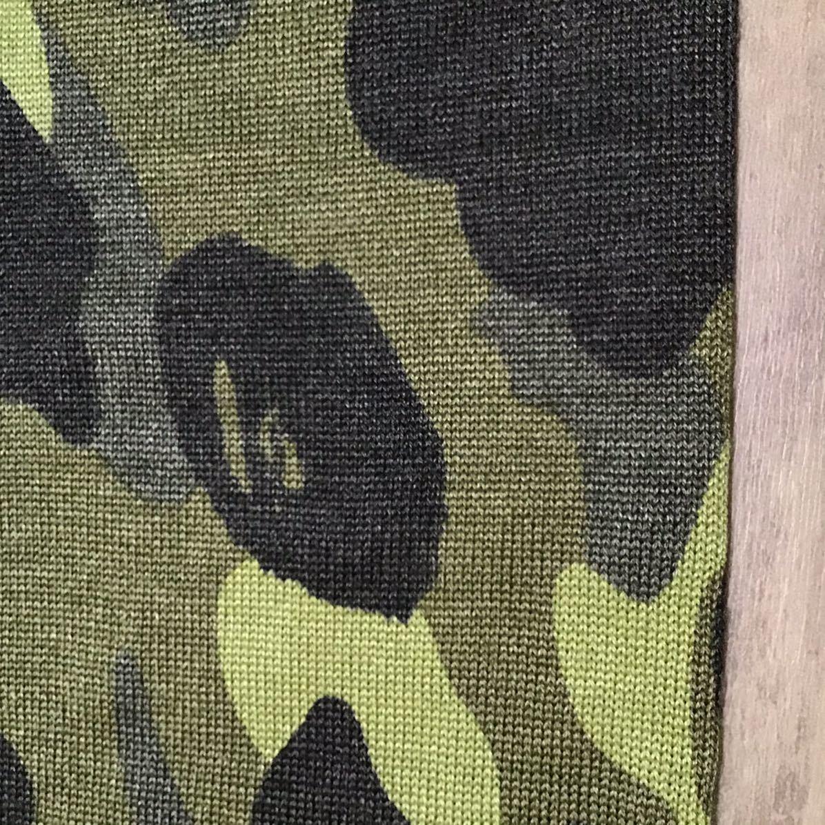 ニット マフラー green camo a bathing ape bape エイプ ベイプ アベイシングエイプ ストール 迷彩 カモフラ knit 5280