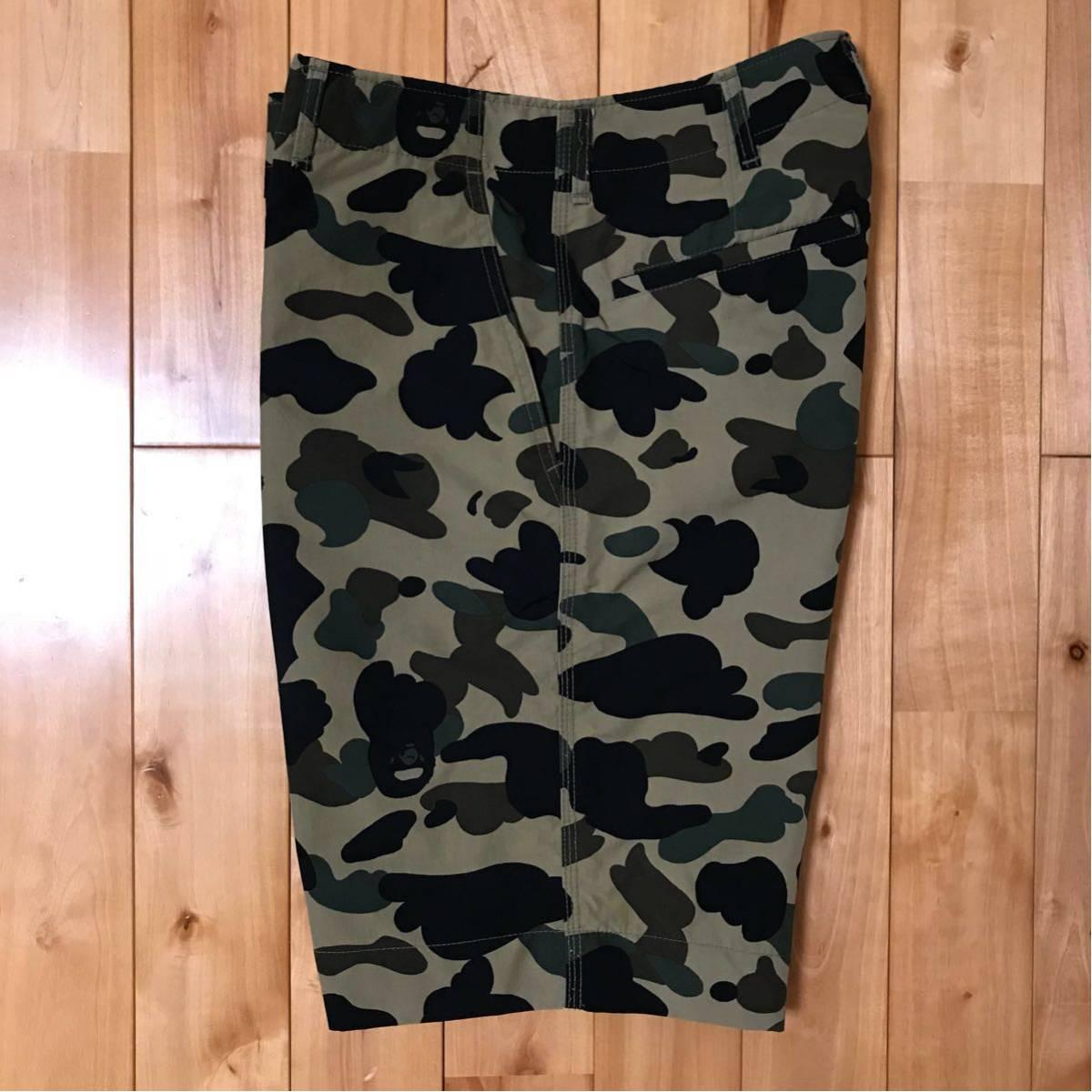 ★初期★ 1st camo ナイロン ハーフパンツ Mサイズ a bathing ape bape ショーツ shorts エイプ ベイプ アベイシングエイプ 迷彩 NIGO