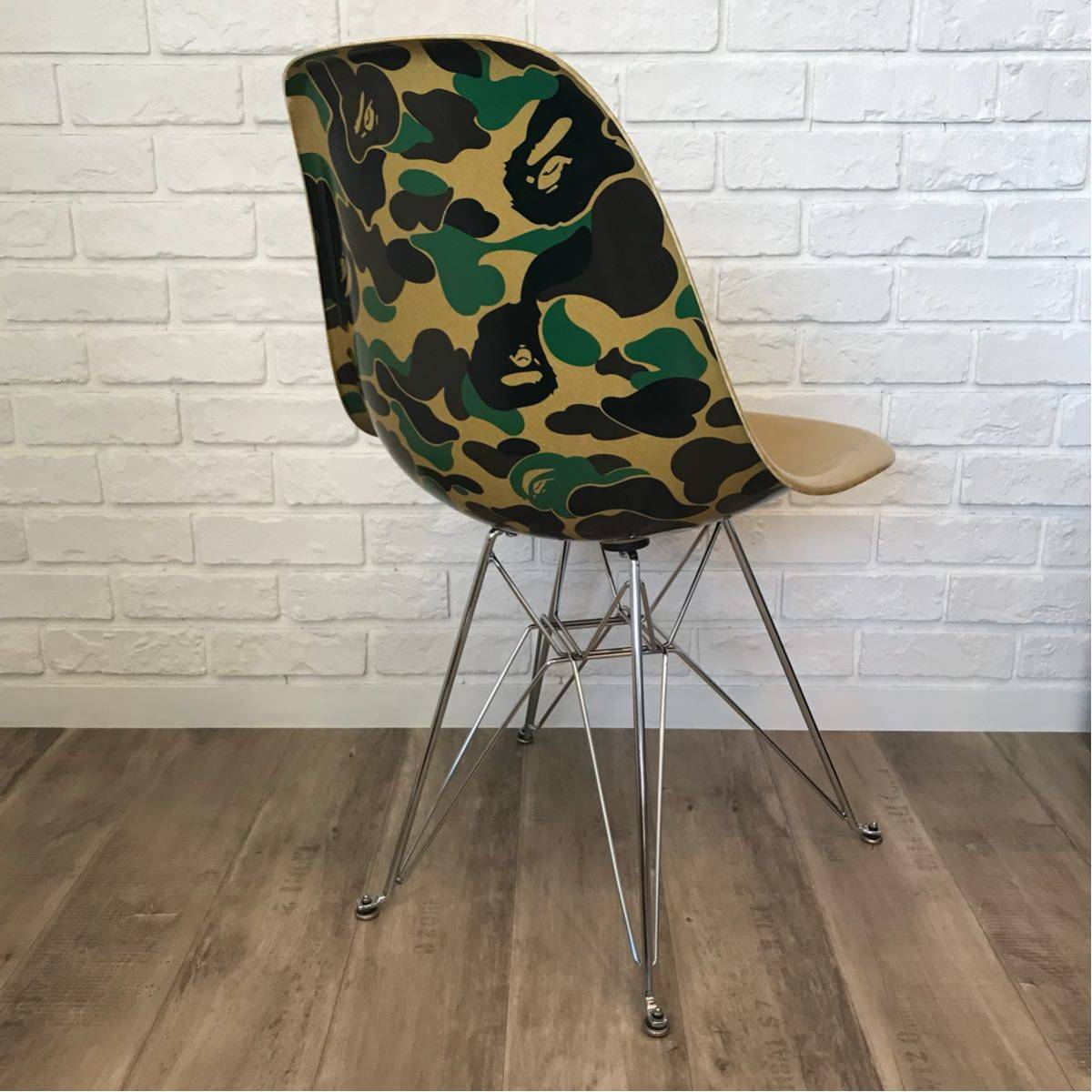 MODERNICA × BAPE CAMO SIDE CHAIR green a bathing ape EAMES モダニカ イームズ チェア ABC CAMO case study shop furniture ベイプ