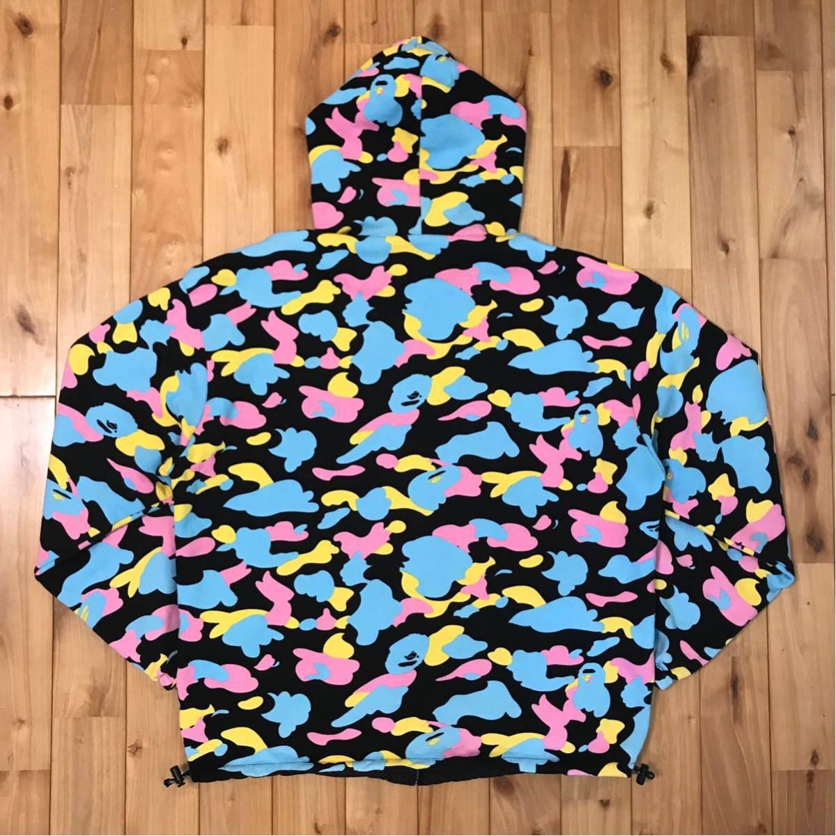 ★リバーシブル★ マルチカモ パーカー Mサイズ a bathing ape BAPE hoodie cotton candy camo multi jacket エイプ ベイプ ブルゾン 迷彩