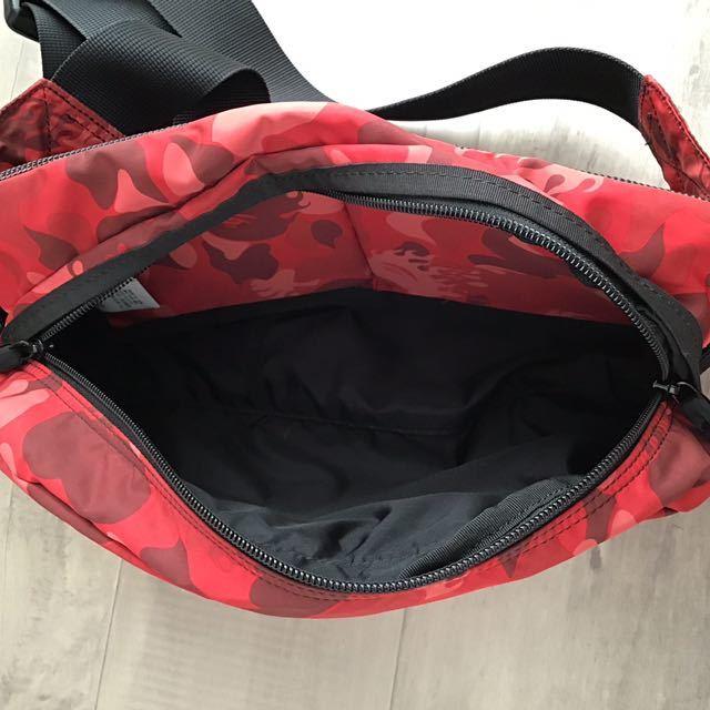 ★激レア★ fire camo red ウエストバッグ a bathing ape bape bag ファイヤーカモ エイプ ベイプ アベイシングエイプ 迷彩 ウエストポーチ
