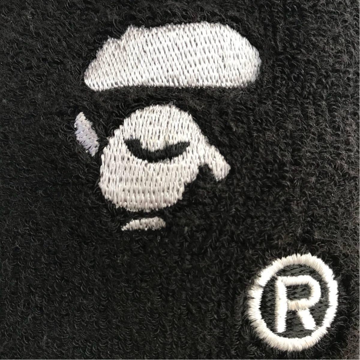 ★レア★ リストバンド バスケットボール a bathing ape bape face basketball エイプ ベイプ アベイシングエイプ バスケ NBA ブラック