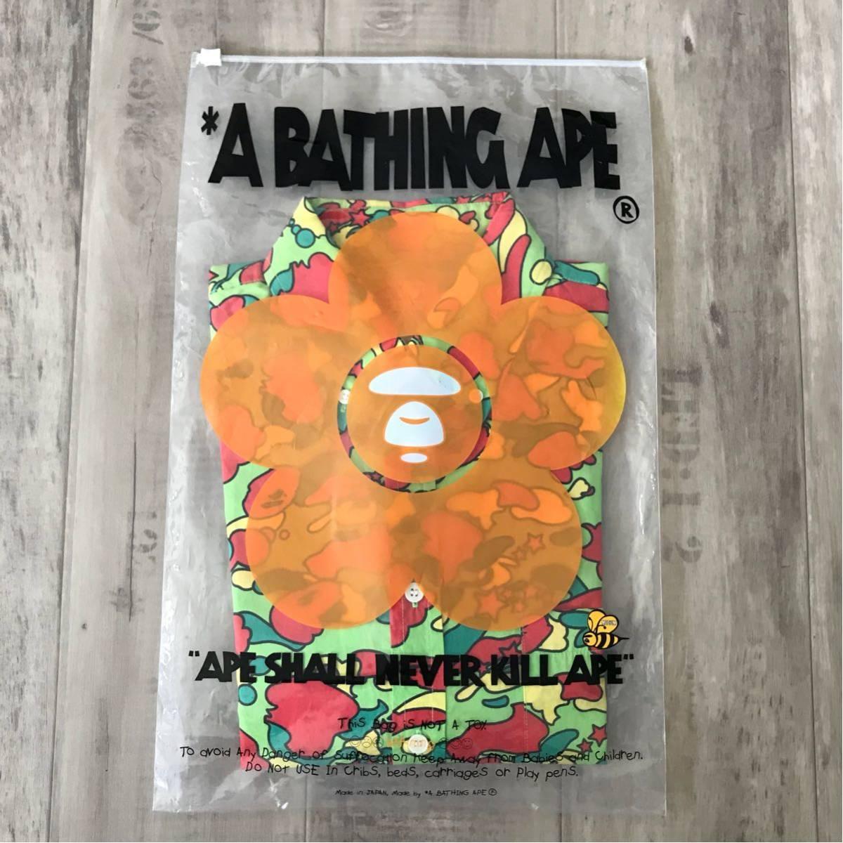 ★激レア★ psyche camo BD 長袖シャツ Mサイズ a bathing ape bape サイケ サイケカモ エイプ ベイプ アベイシングエイプ pharrell kanye