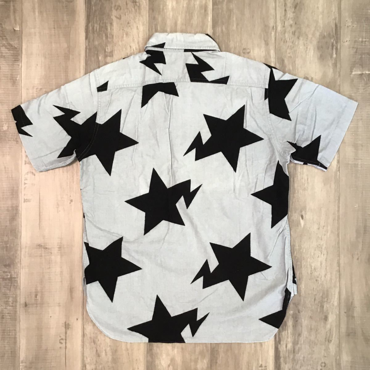 bapesta 半袖シャツ Sサイズ gray × black a bathing ape bape sta エイプ ベイプ アベイシングエイプ スター star 1936