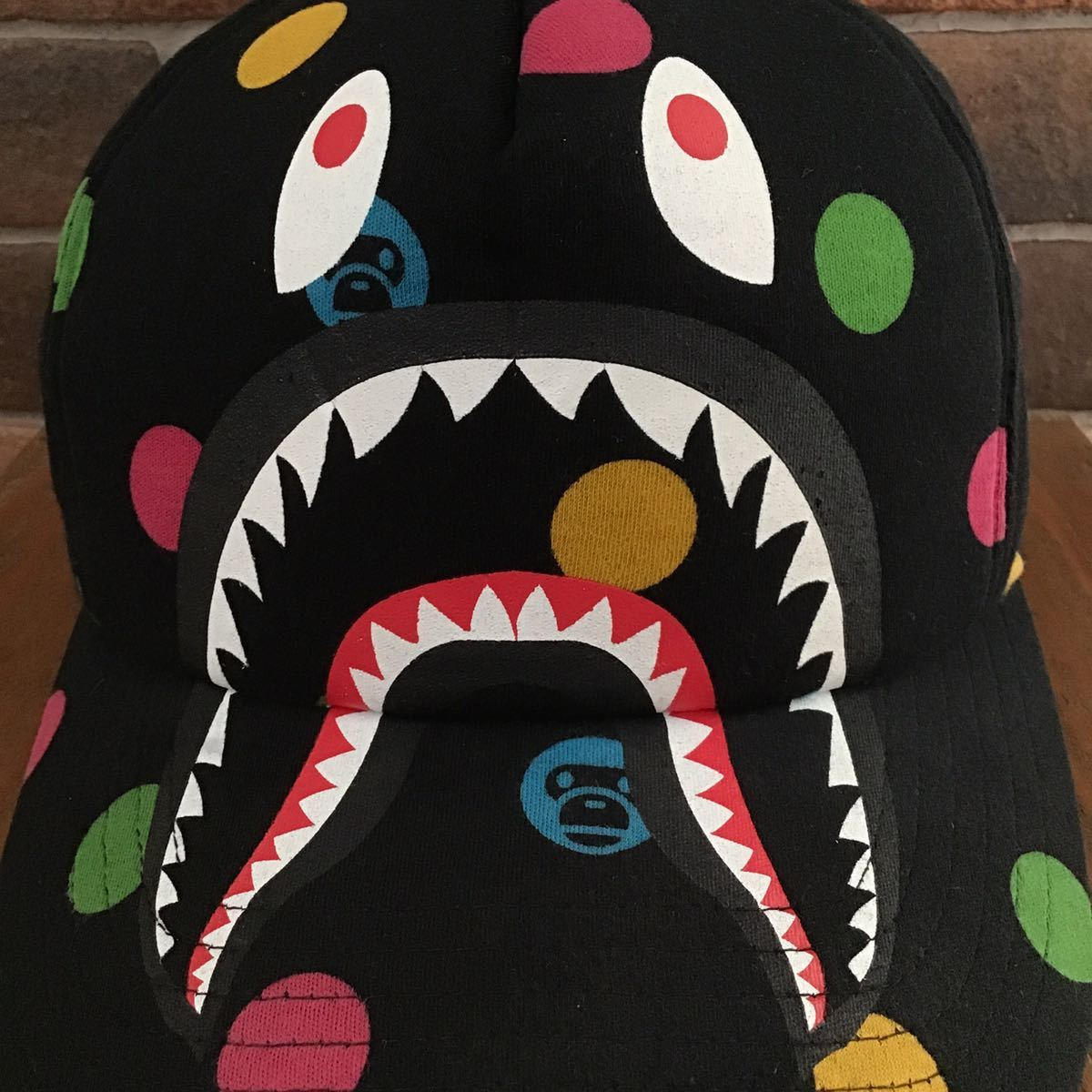 ドット マイロ シャーク スナップバック キャップ a bathing ape BAPE shark trucker hat cap DOT milo エイプ ベイプ アベイシングエイプ