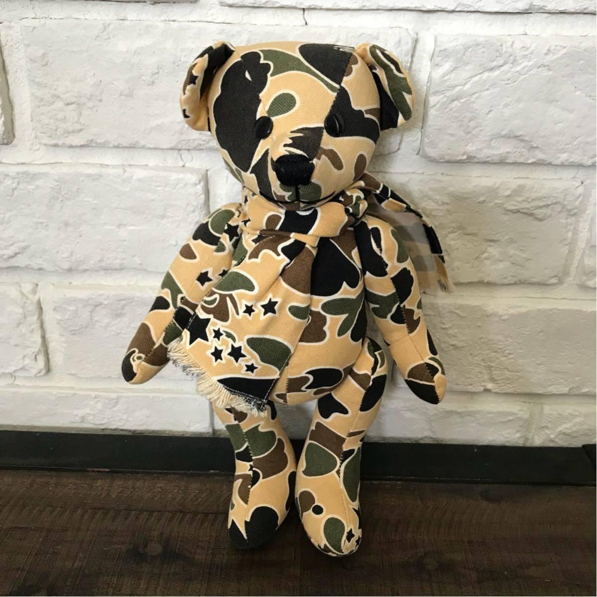 ★激レア★ sta camo Teddy bear a bathing ape BAPE サイケカモ psyche camo エイプ ベイプ nigo テディベア ぬいぐるみ