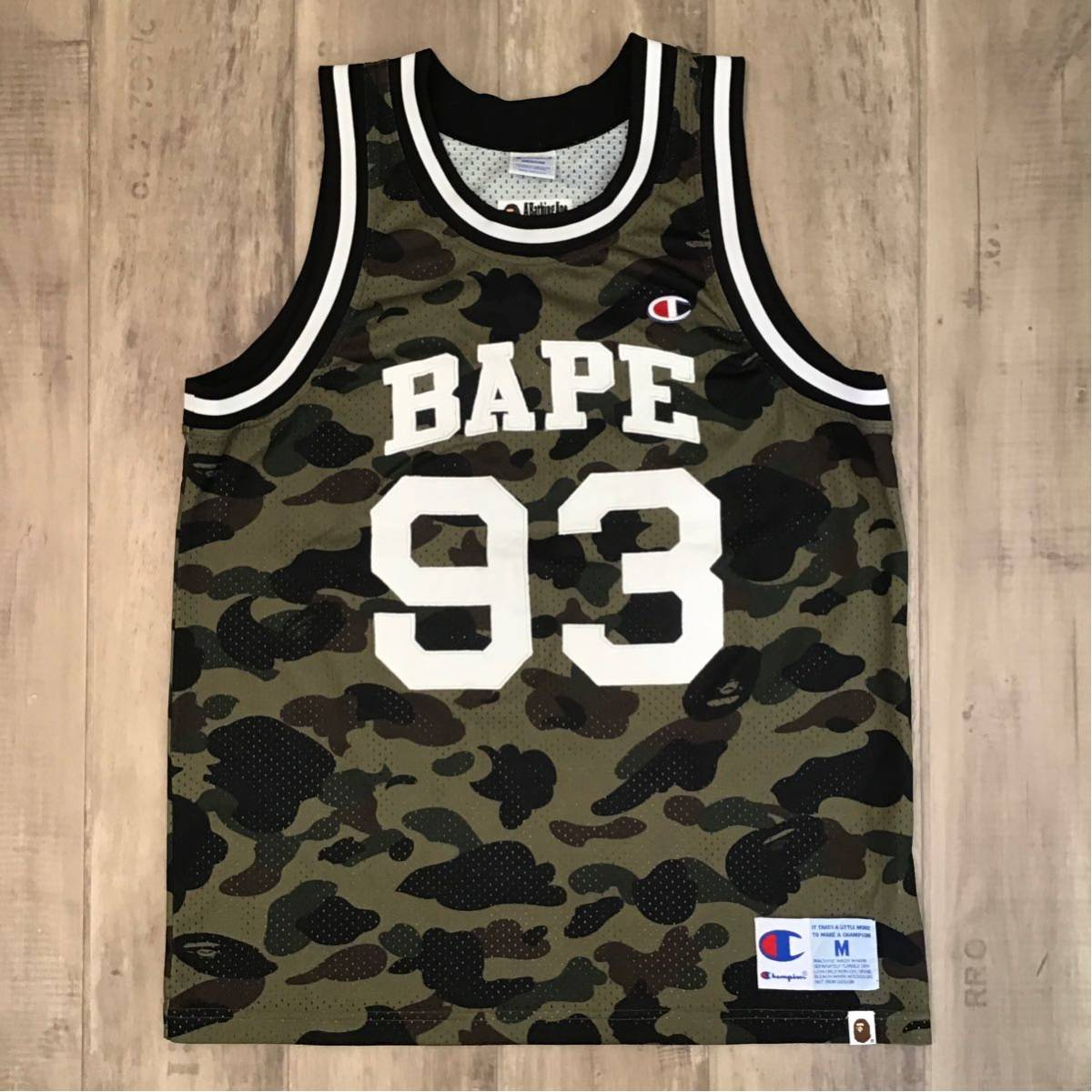 champion × BAPE basketball tank top Mサイズ a bathing ape BAPE タンクトップ エイプ ベイプ アベイシングエイプ チャンピオン 迷彩