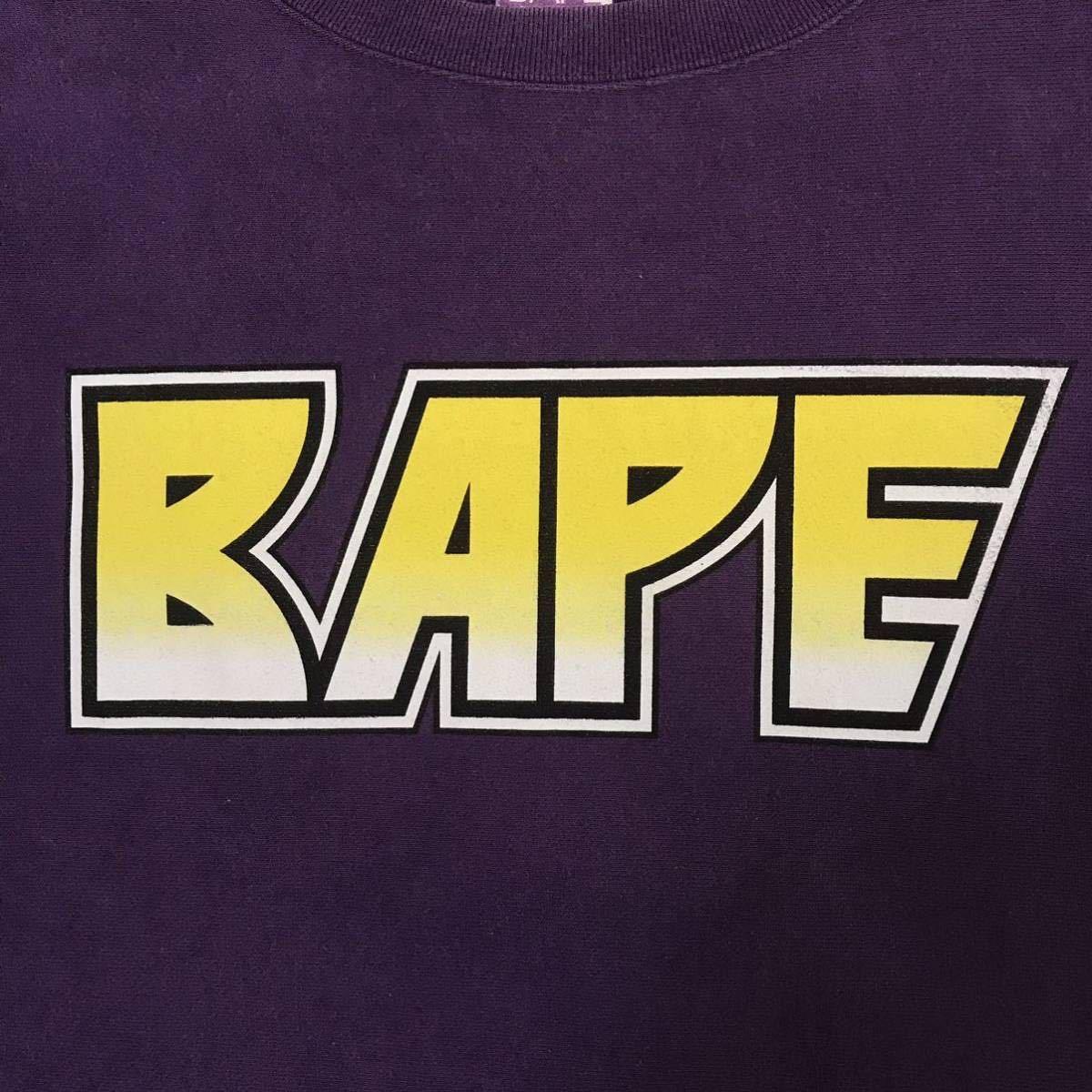 ★レア★ KISS logo 長袖スウェット Mサイズ a bathing ape bape エイプ ベイプ アベイシングエイプ nigo 2321