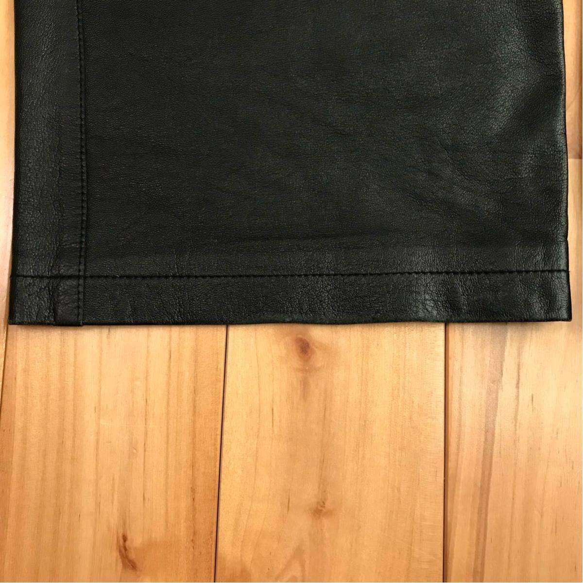 ★初期★ シープスキン レザーパンツ Mサイズ a bathing ape BAPE sta sheepskin leather pants BAPEsta 羊革 エイプ ベイプ nigo vintage