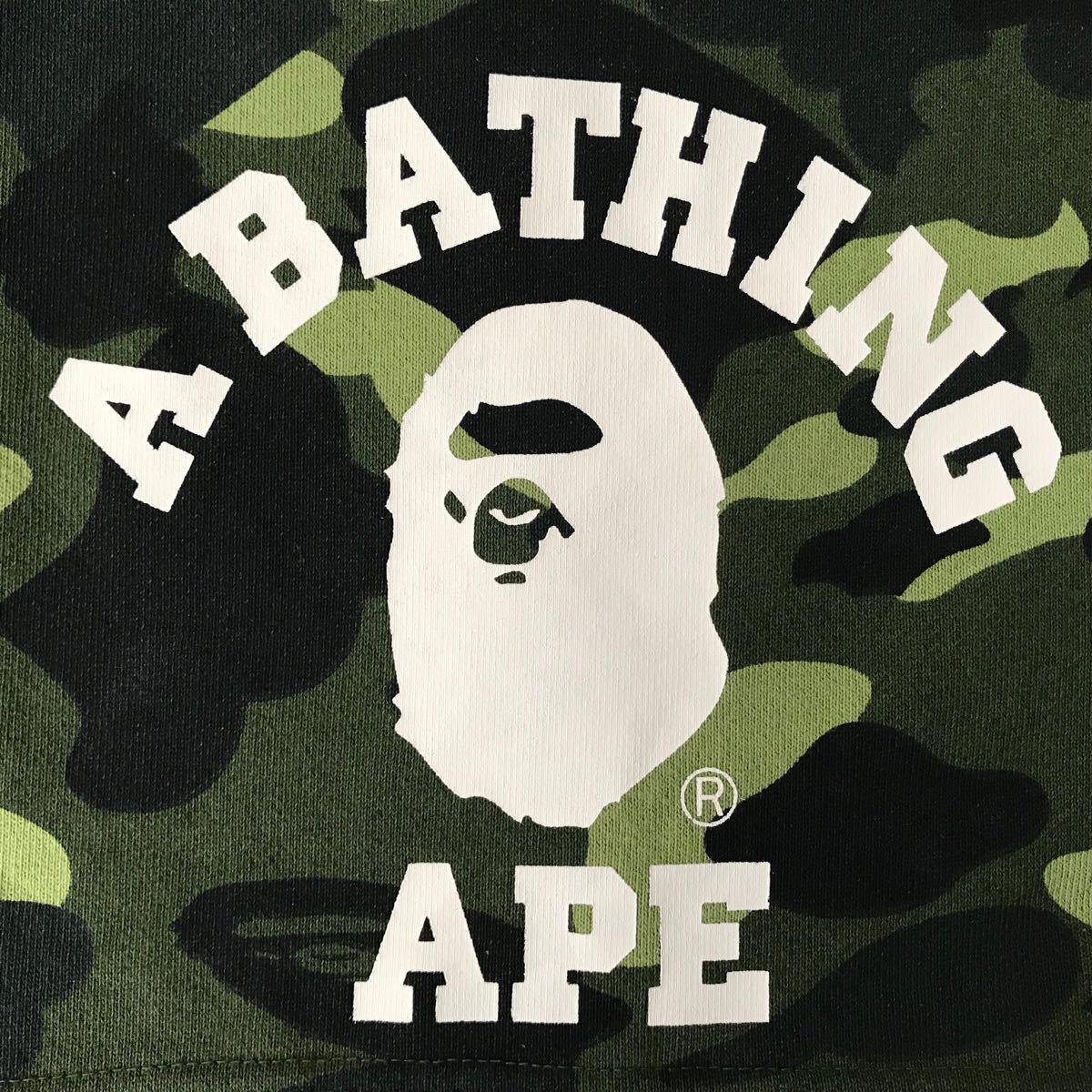 カレッジロゴ スウェット マフラー green camo a bathing ape bape エイプ ベイプ アベイシングエイプ ストール 迷彩 グリーンカモ