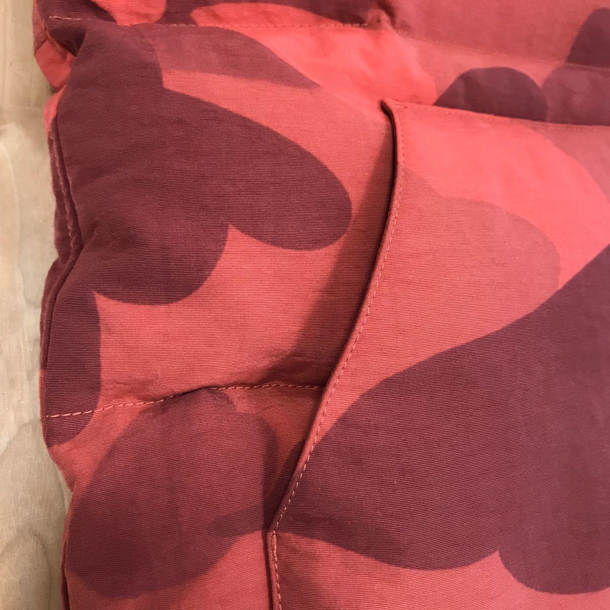 ダウンベスト giant red camo Lサイズ a bathing ape BAPE エイプ ベイプ アベイシングエイプ zoom down vest レッドカモ 赤 迷彩 854