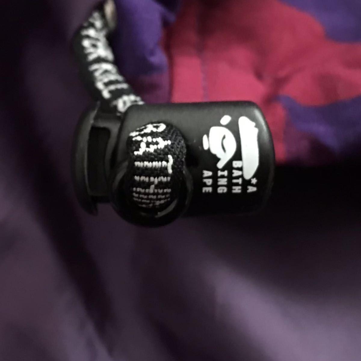 ★XL★ ダウンベスト giant purple camo a bathing ape BAPE エイプ ベイプ アベイシングエイプ zoom down vest パープルカモ 迷彩