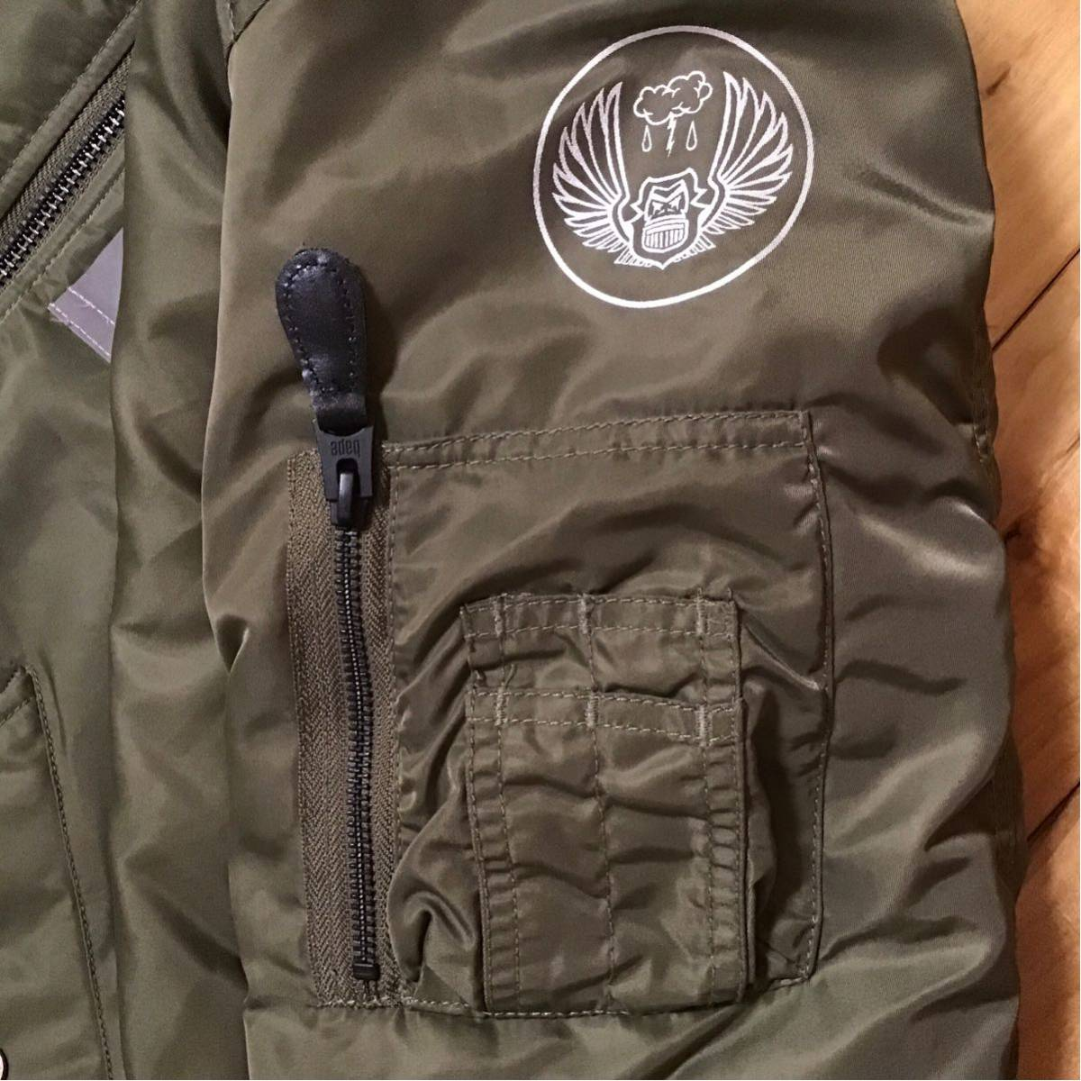 REFLECTOR SHARK MA-1 bomber jacket Mサイズ a bathing ape BAPE エイプ ベイプ アベイシングエイプ シャーク ジャケット WGM